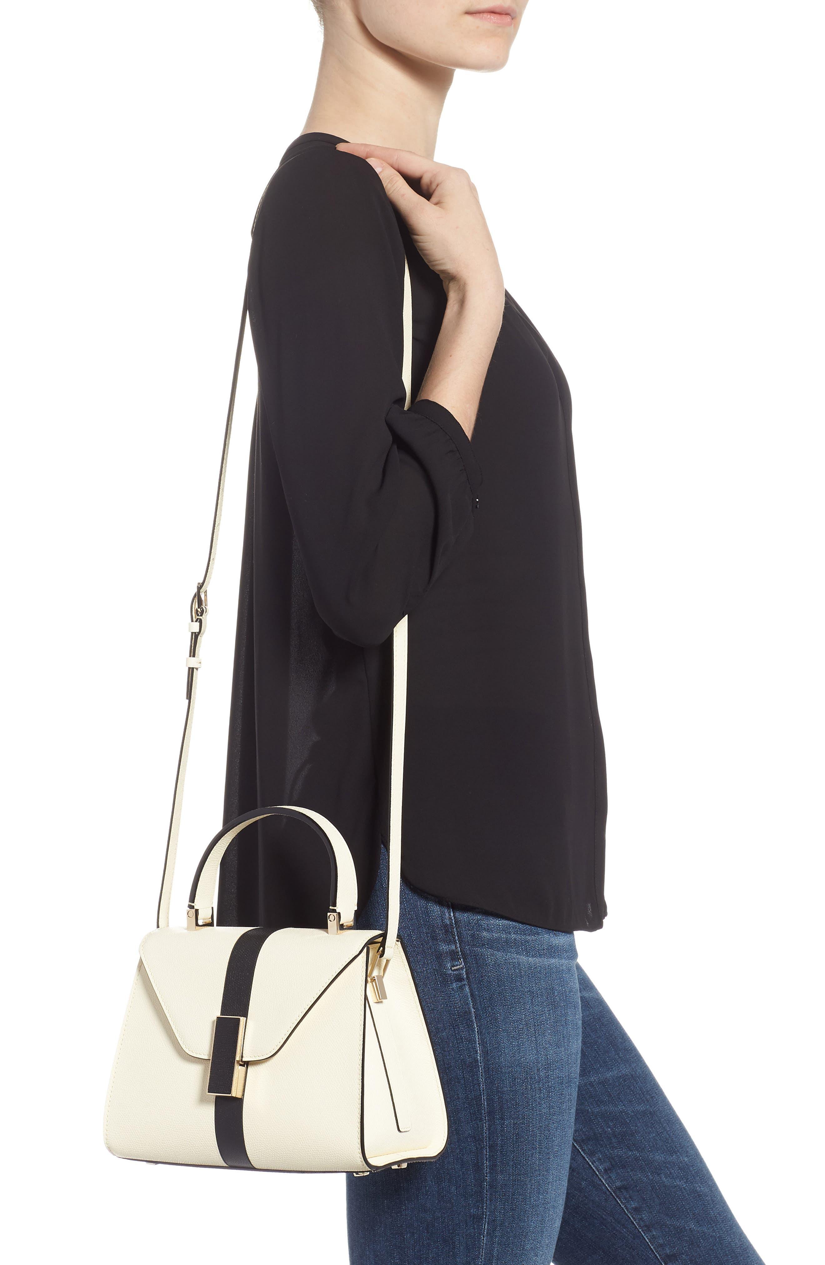 Mini Iside Top Handle Bag,                             Alternate thumbnail 2, color,                             WHITE/ BLACK