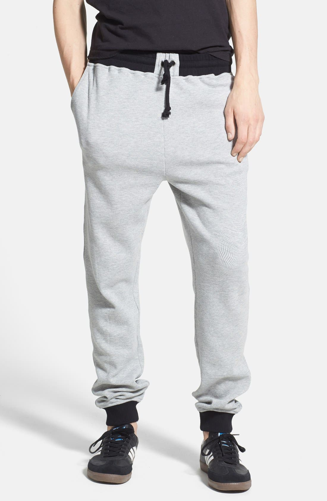Waffle Knit Jogger Sweatpants, Main, color, 021