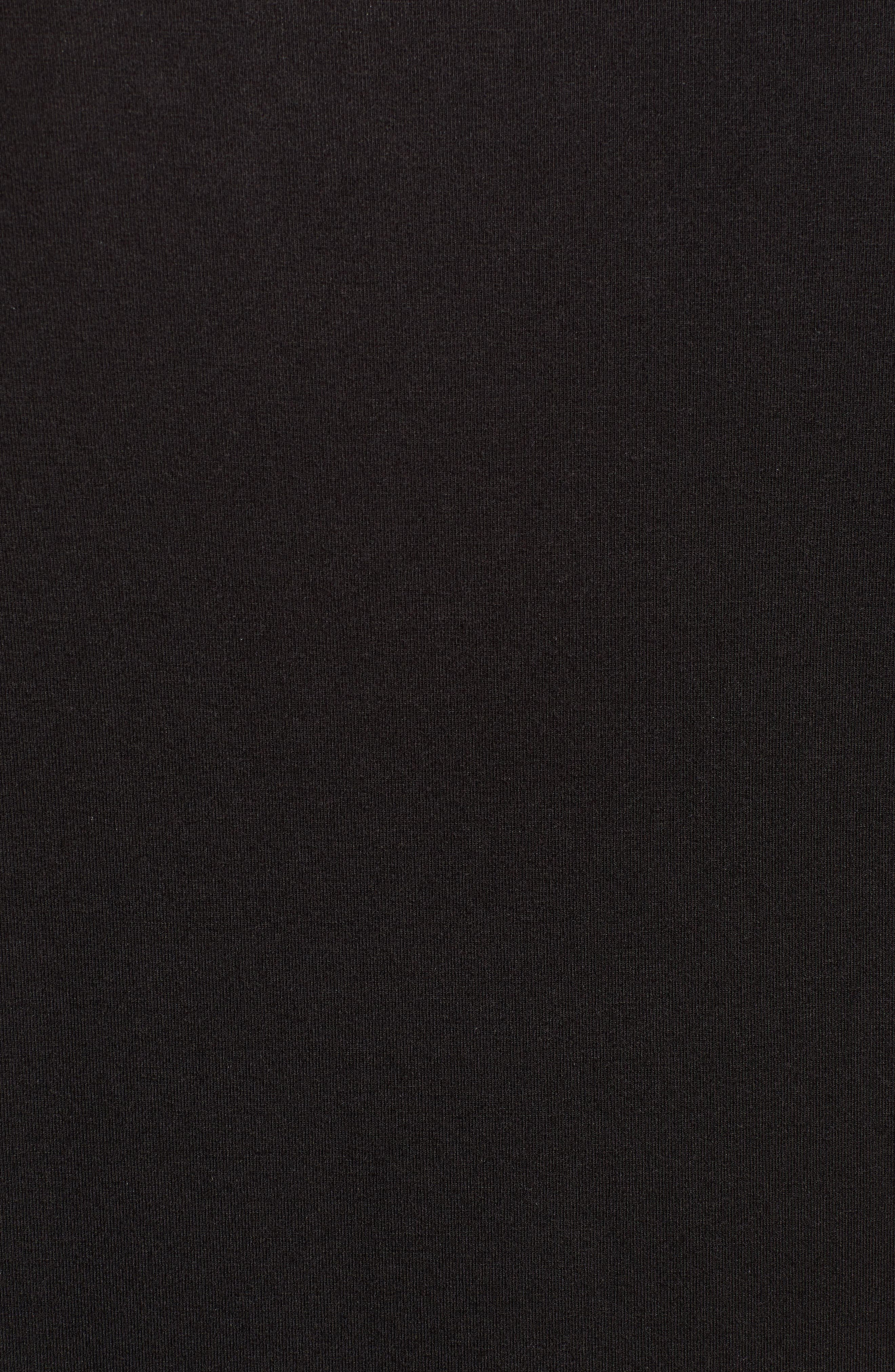 Short Sleeve Stretch Modal Henley,                             Alternate thumbnail 5, color,                             BLACK