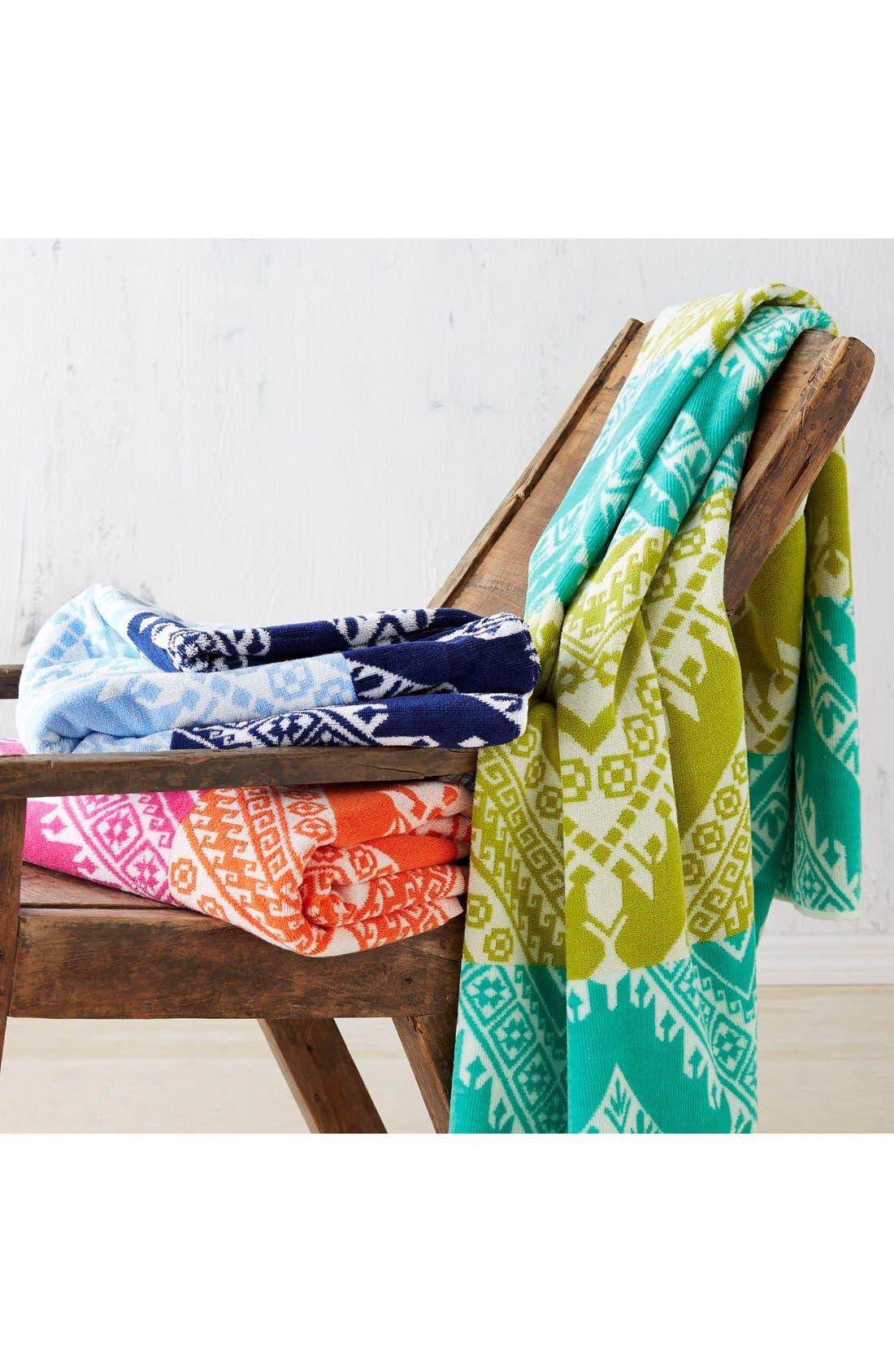 'Koh' Chevron Wave Pattern Beach Towel,                             Alternate thumbnail 3, color,                             400
