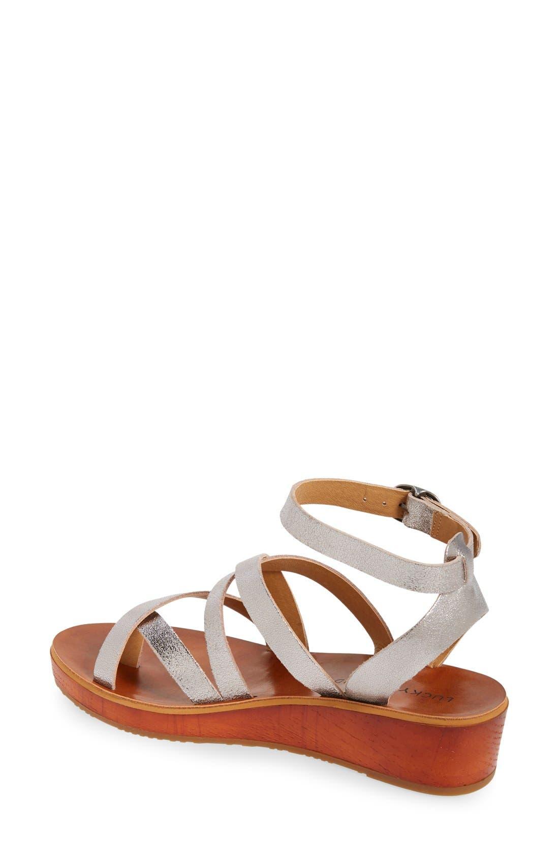 'Honeyy' Platform Sandal,                             Alternate thumbnail 7, color,