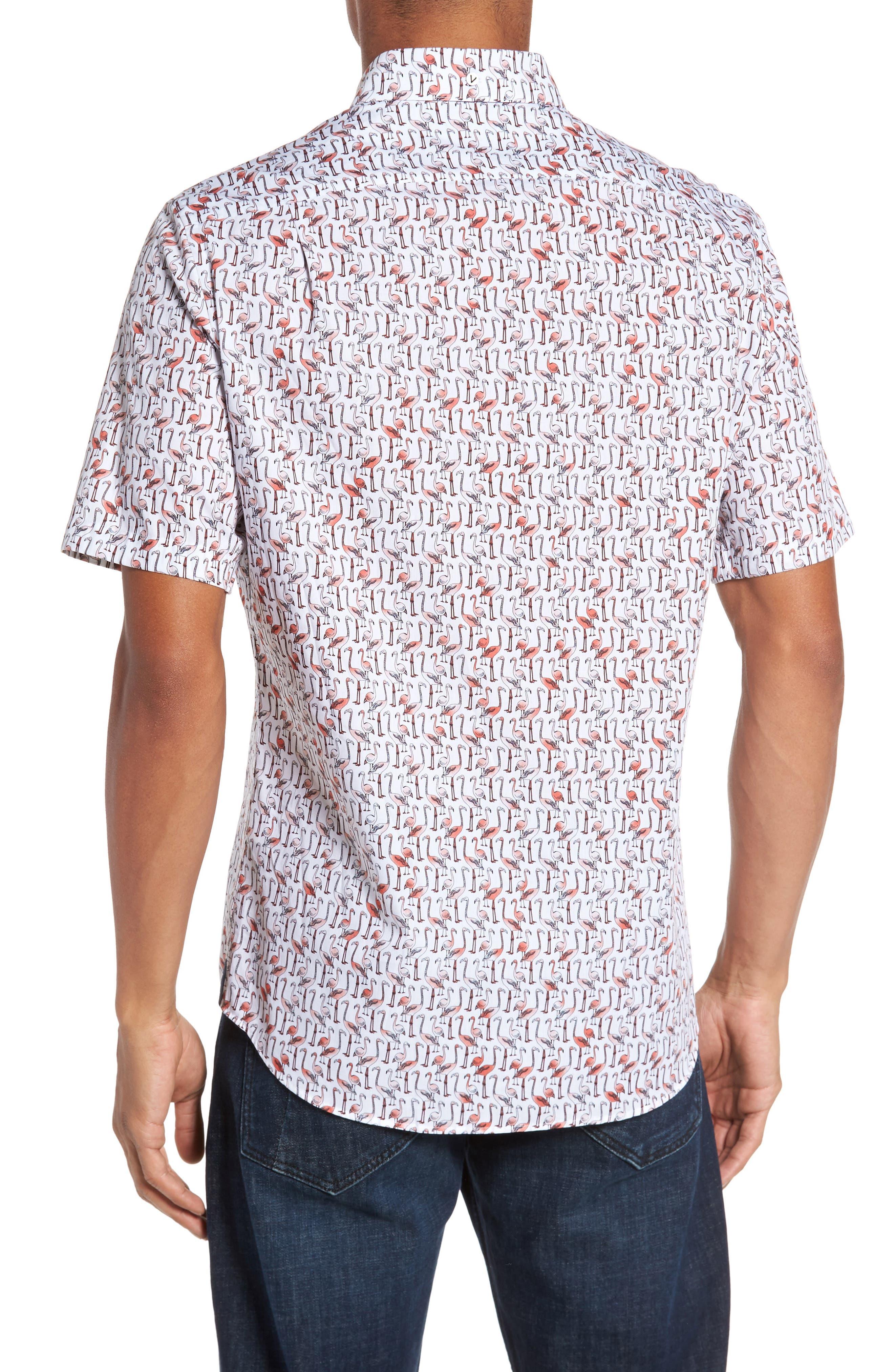 Slim Fit Flamingo Sport Shirt,                             Alternate thumbnail 2, color,                             950