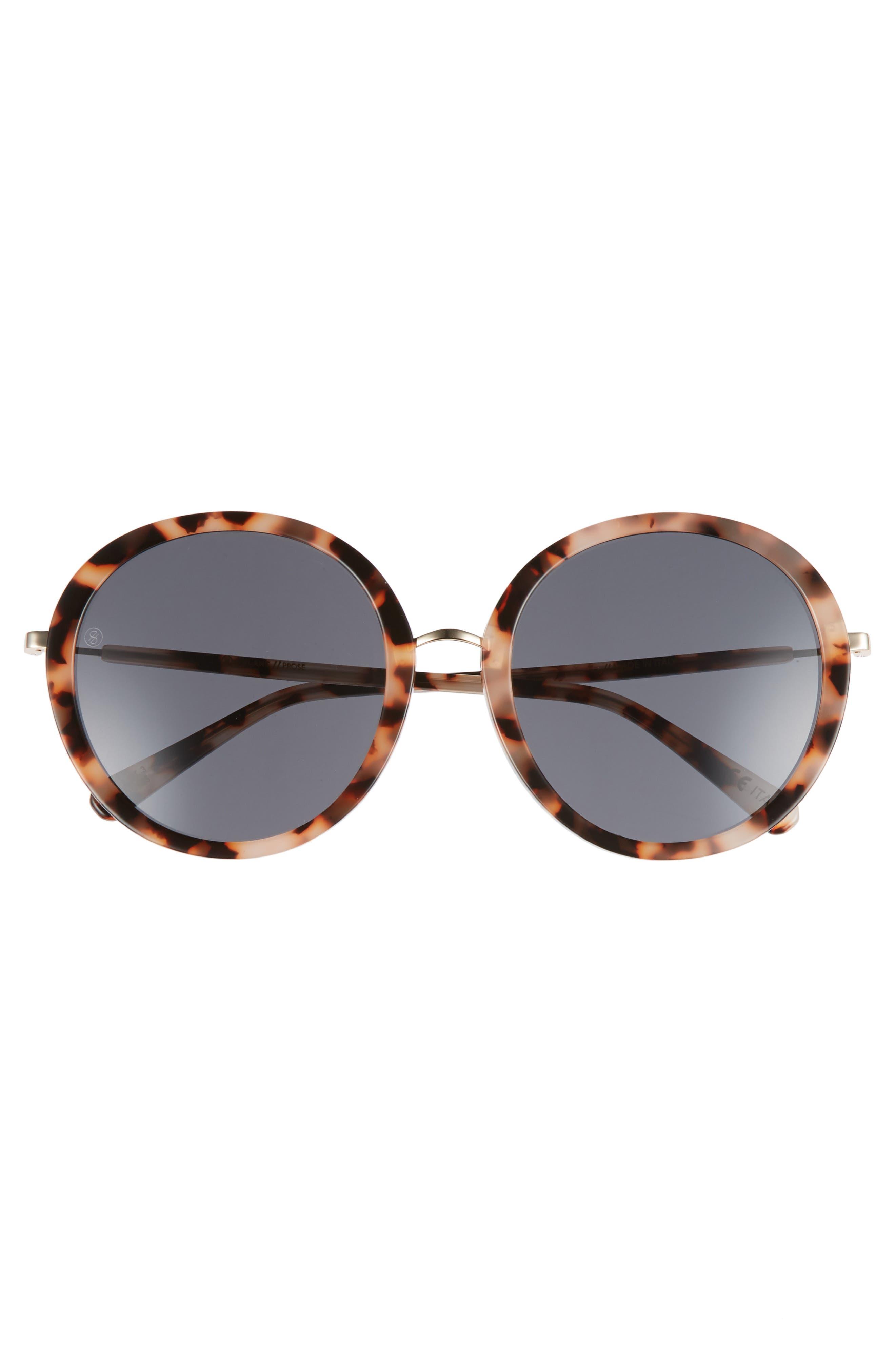 D'BLANC Prose 56mm Round Sunglasses,                             Alternate thumbnail 3, color,                             200