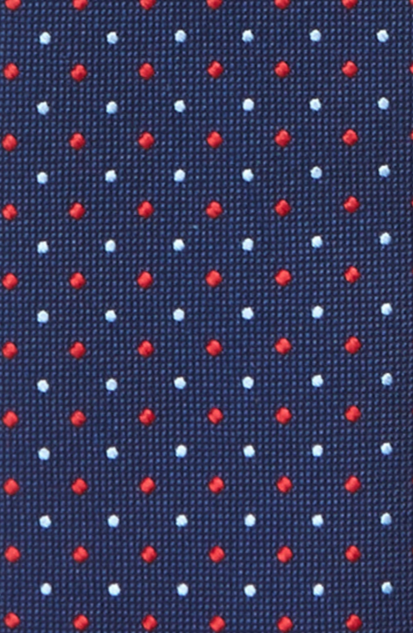 Dot Silk Zip Tie,                             Alternate thumbnail 7, color,