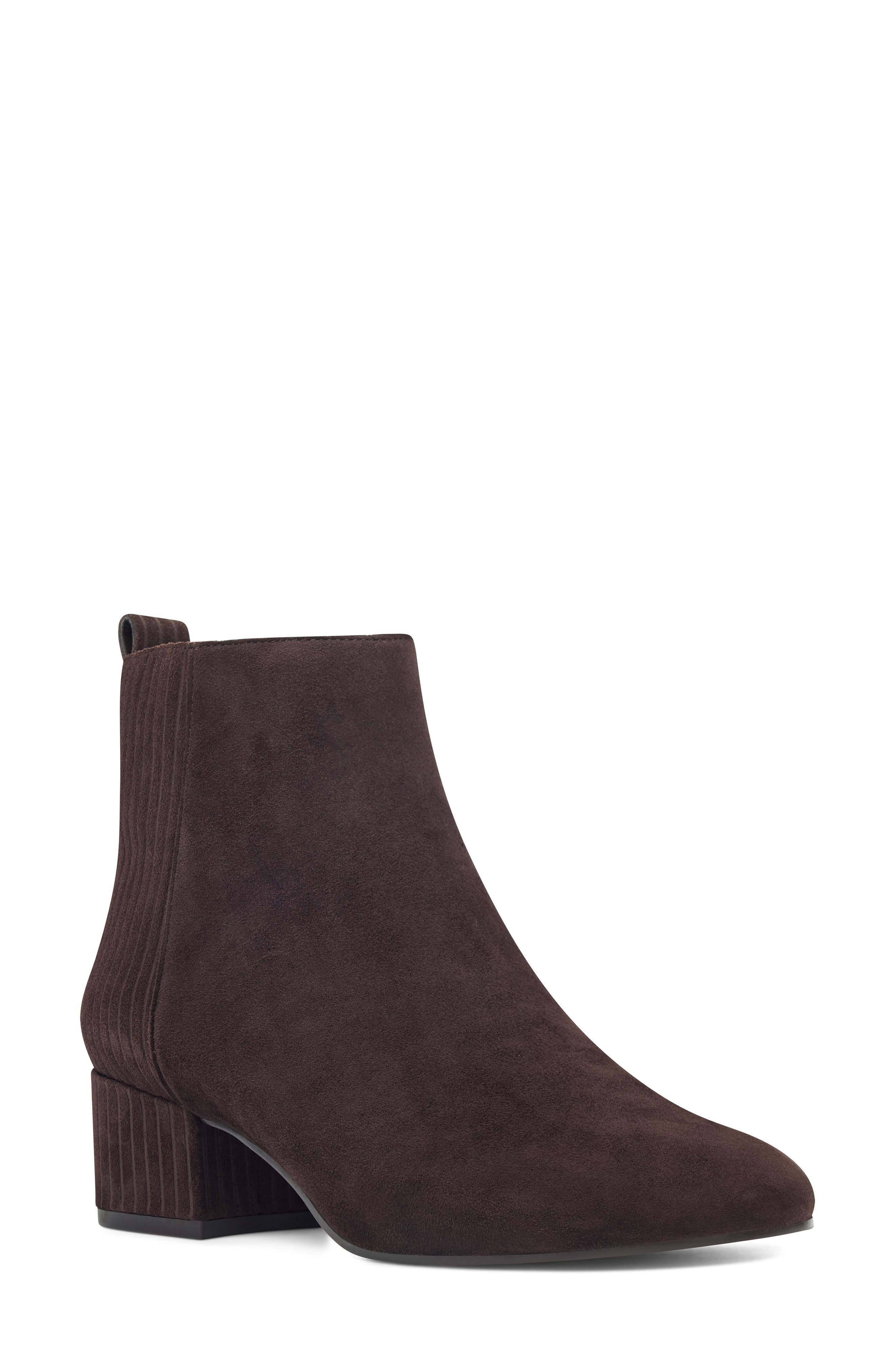 Nine West Lamonto Striped Bootie- Brown