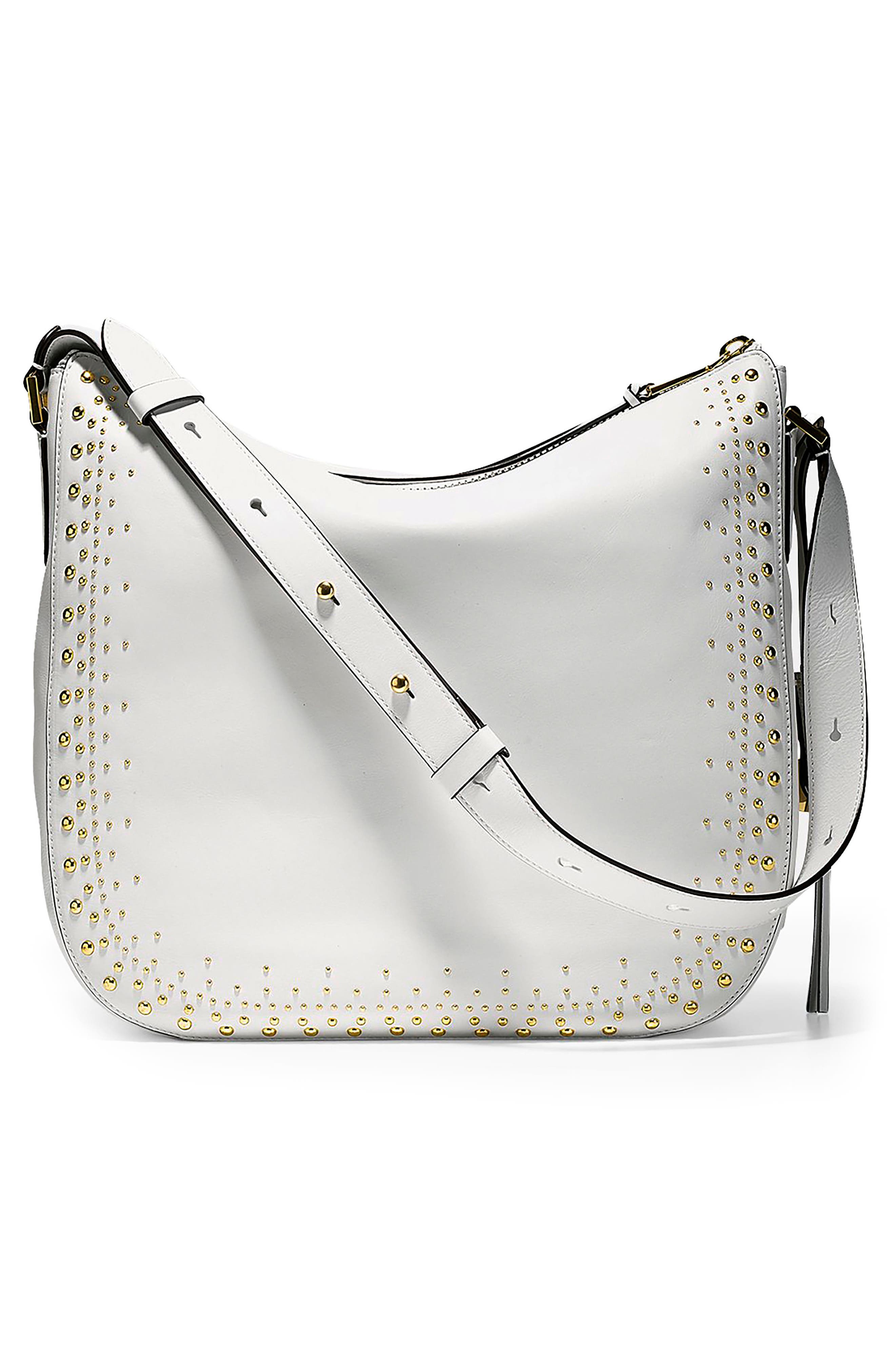 Marli Studded Leather Bucket Hobo,                             Alternate thumbnail 2, color,