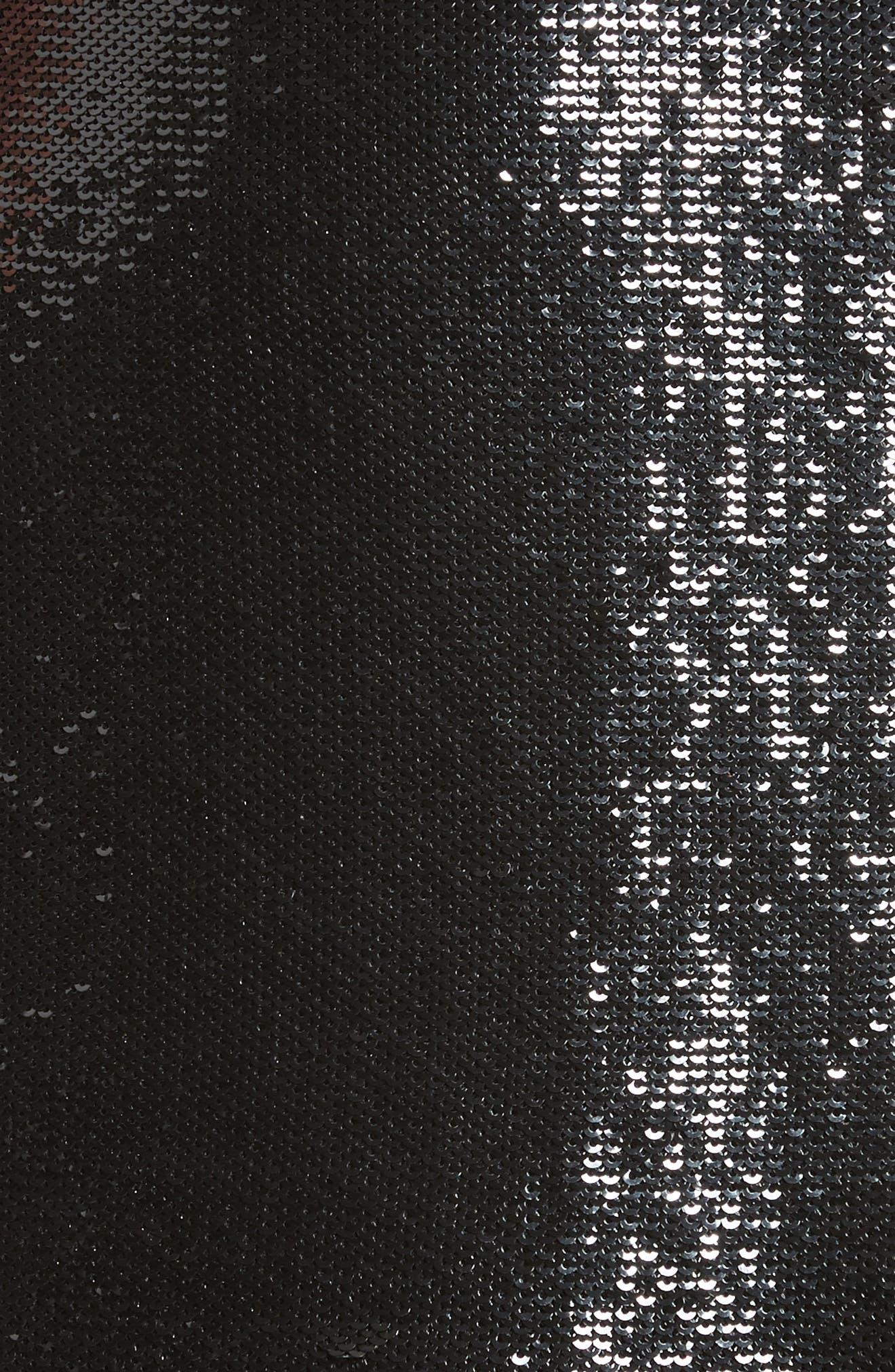Diane von Furstenberg Sequin Pencil Skirt,                             Alternate thumbnail 5, color,                             001