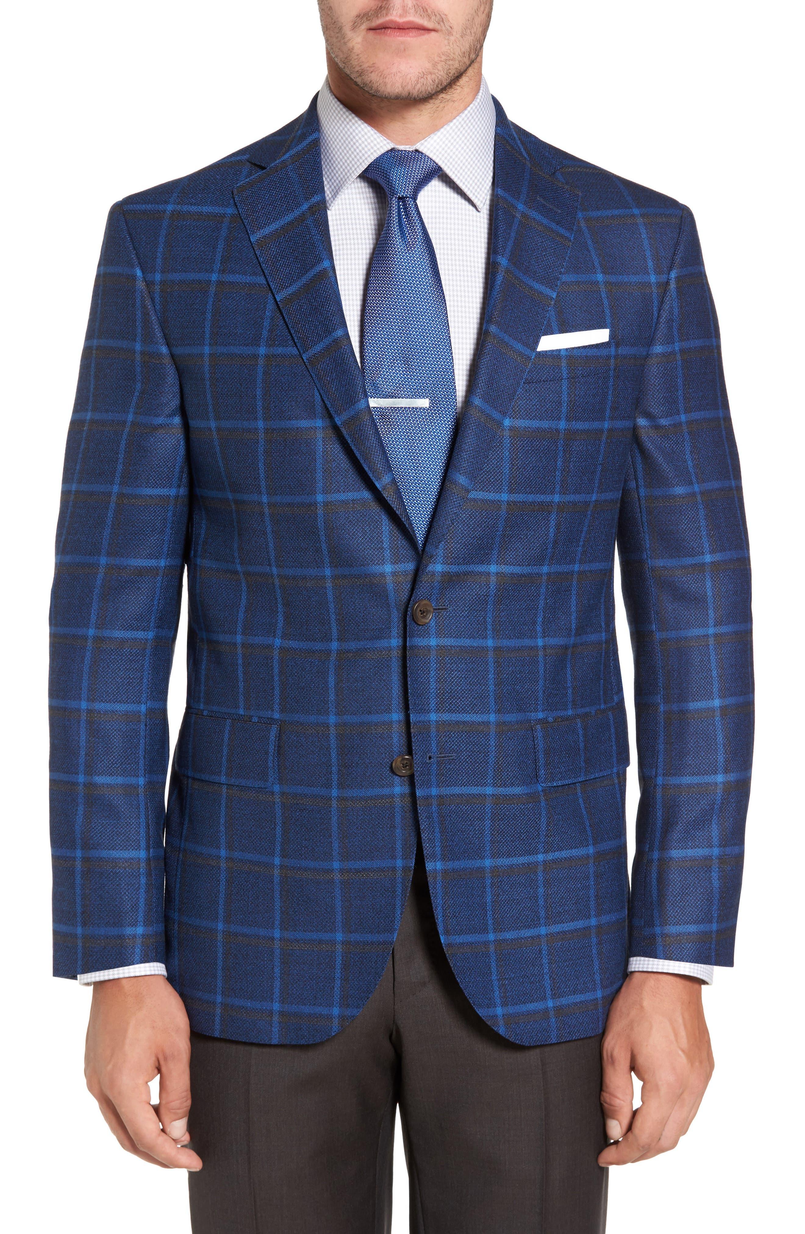 Connor Classic Fit Plaid Sport Coat,                         Main,                         color, 400