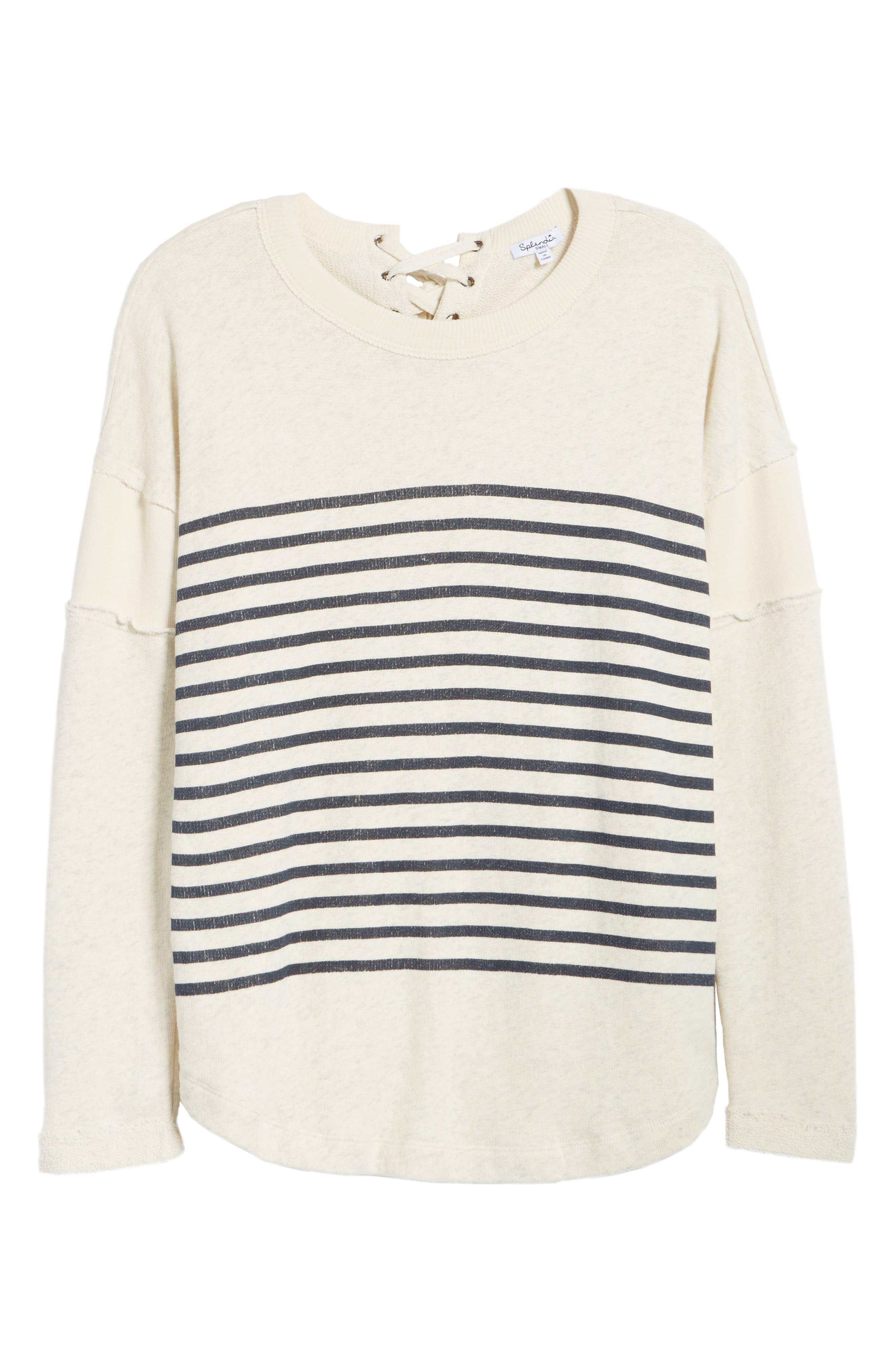 Seabrook Stripe Sweatshirt,                             Alternate thumbnail 6, color,                             909