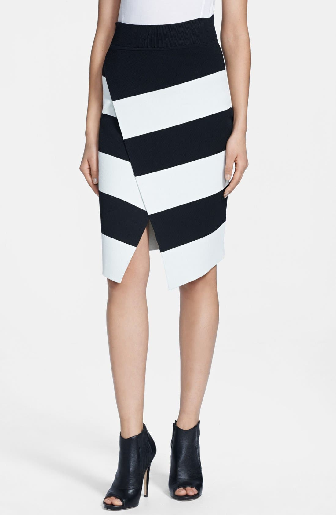 A.L.C.,                             'Campbell' Stripe Skirt,                             Main thumbnail 1, color,                             001