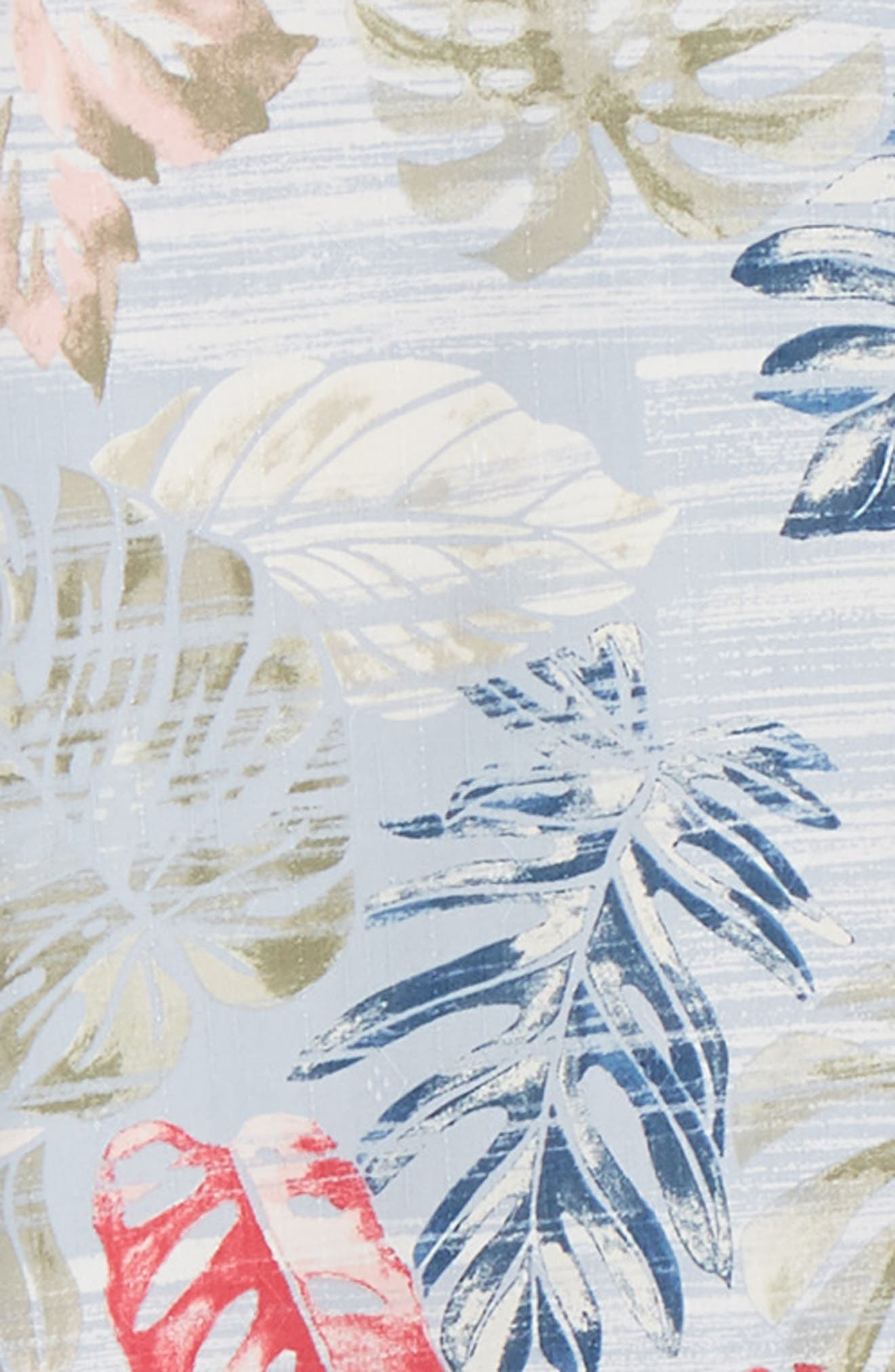 TOMMY BAHAMA,                             Botanica Sketch Silk Blend Shirt,                             Alternate thumbnail 6, color,                             CANYON SKY