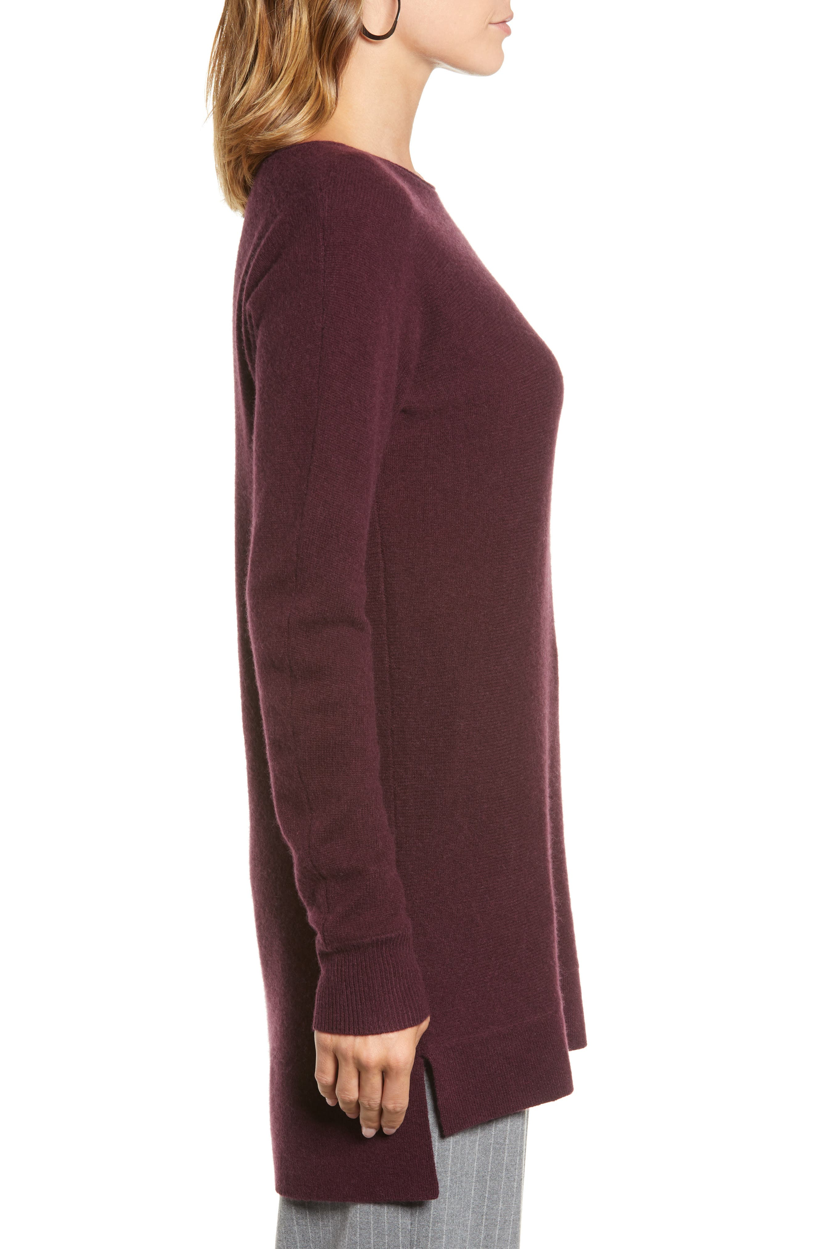 High/Low Wool & Cashmere Tunic Sweater,                             Alternate thumbnail 71, color,