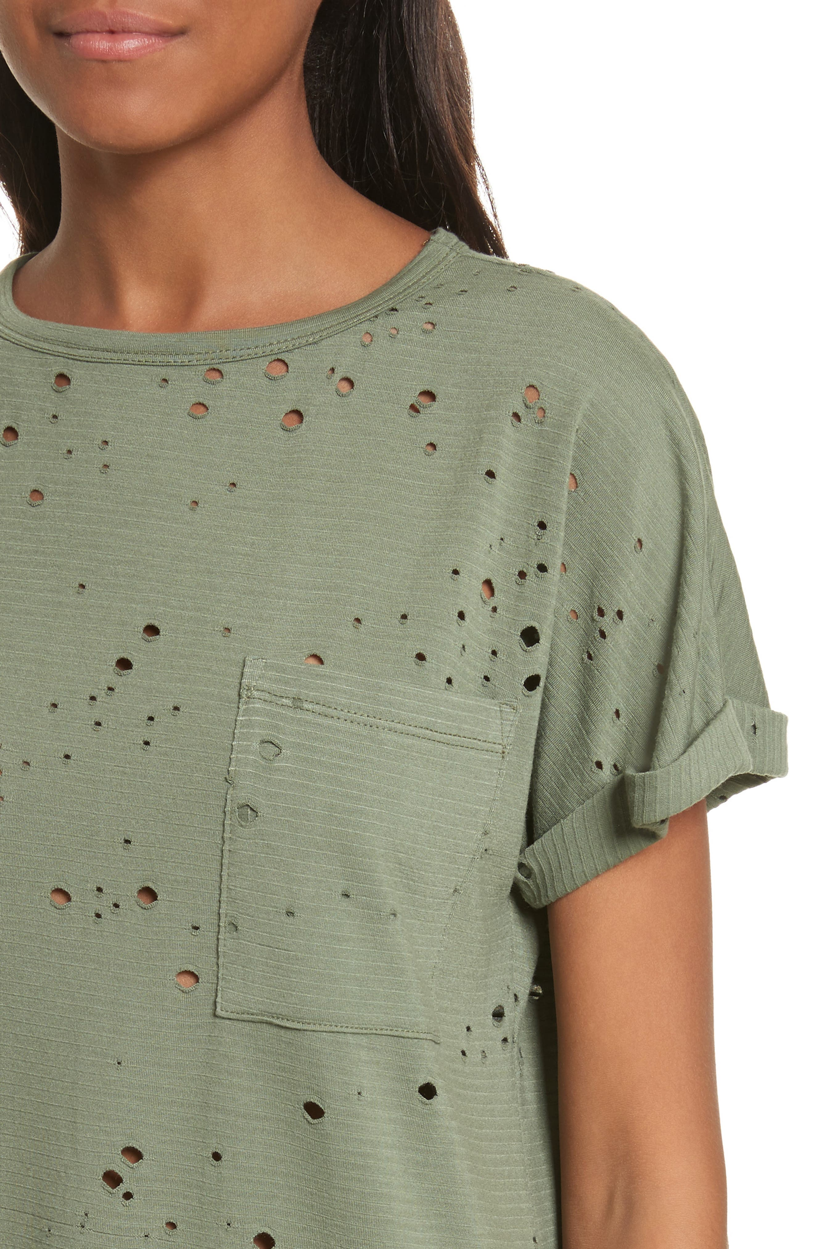Waverly Perforated Tee,                             Alternate thumbnail 4, color,                             310