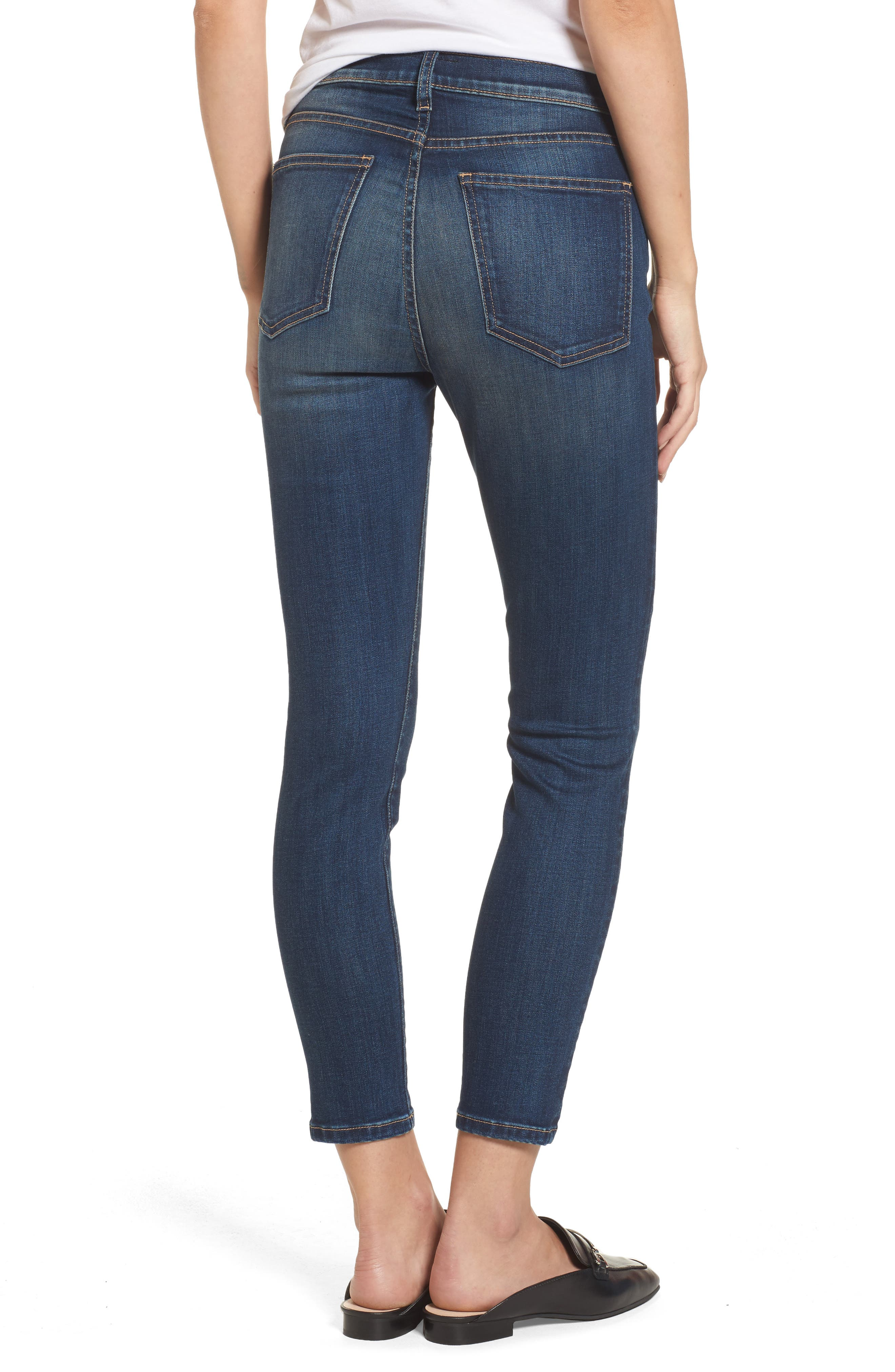 The Stiletto High Waist Ankle Skinny Jeans,                             Alternate thumbnail 2, color,                             477