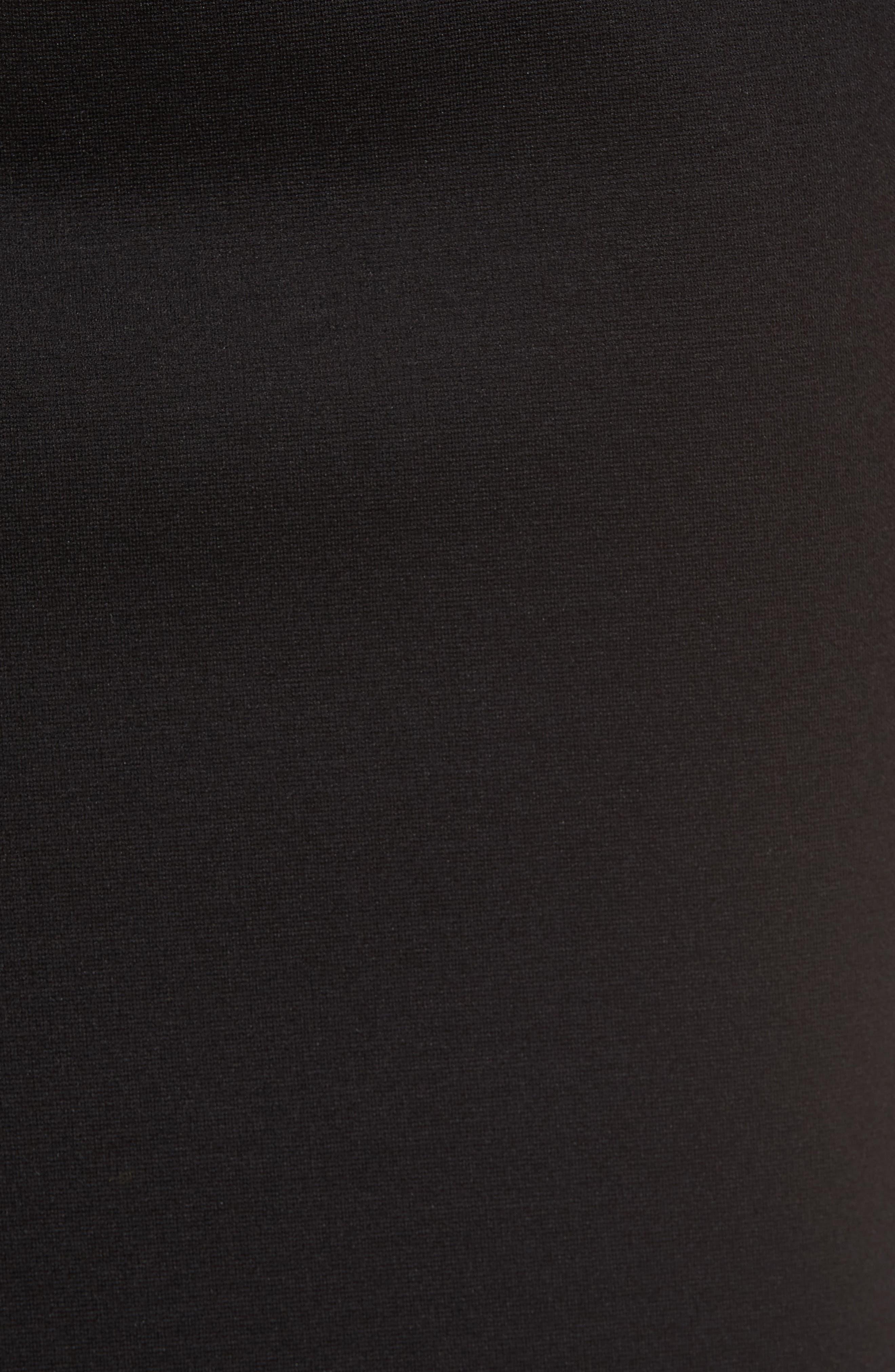 Tencel<sup>®</sup> Blend Pencil Skirt,                             Alternate thumbnail 5, color,                             001