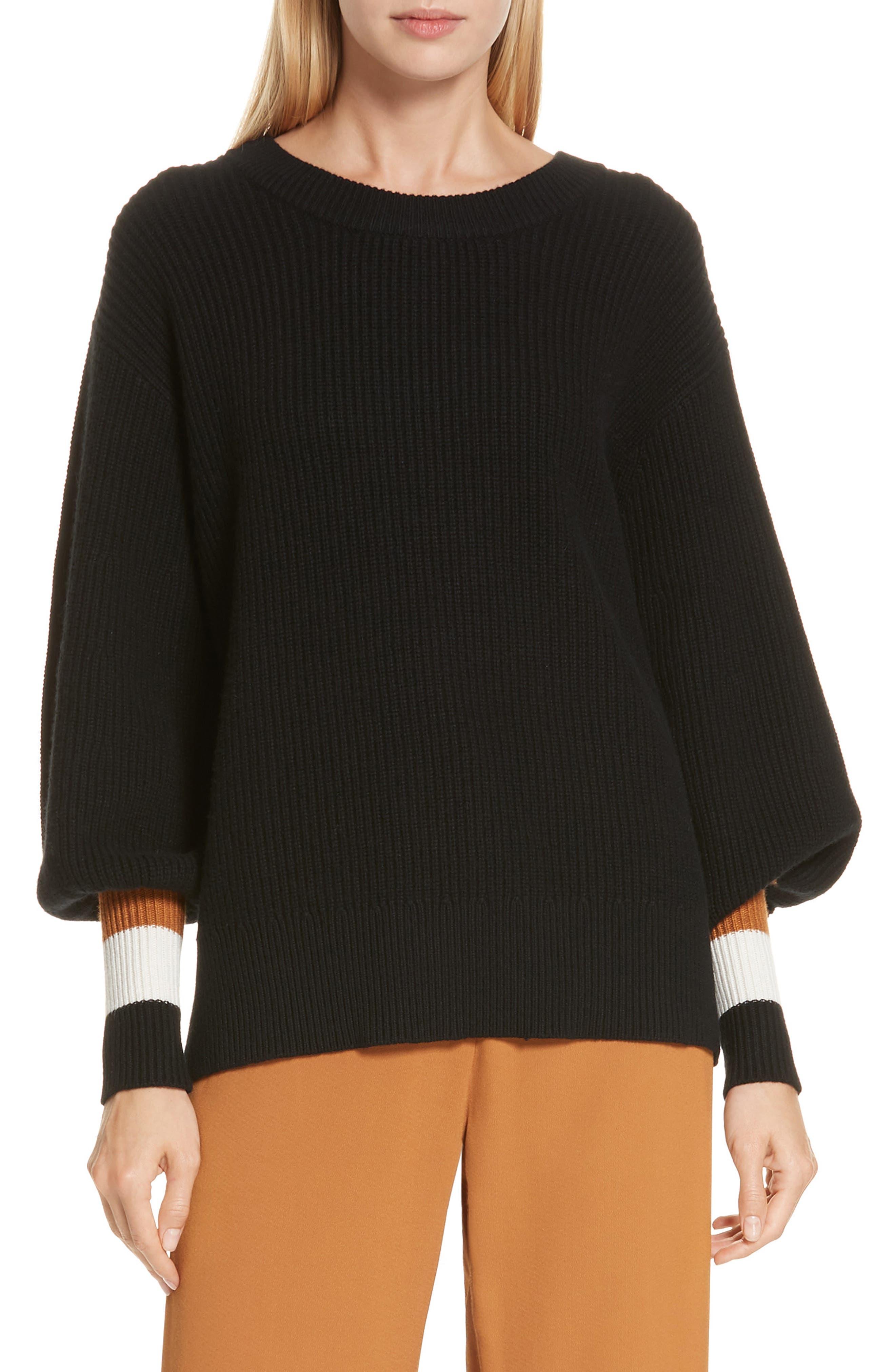 A.l.c. Jasper Lambswool & Cashmere Blend Sweater, Black