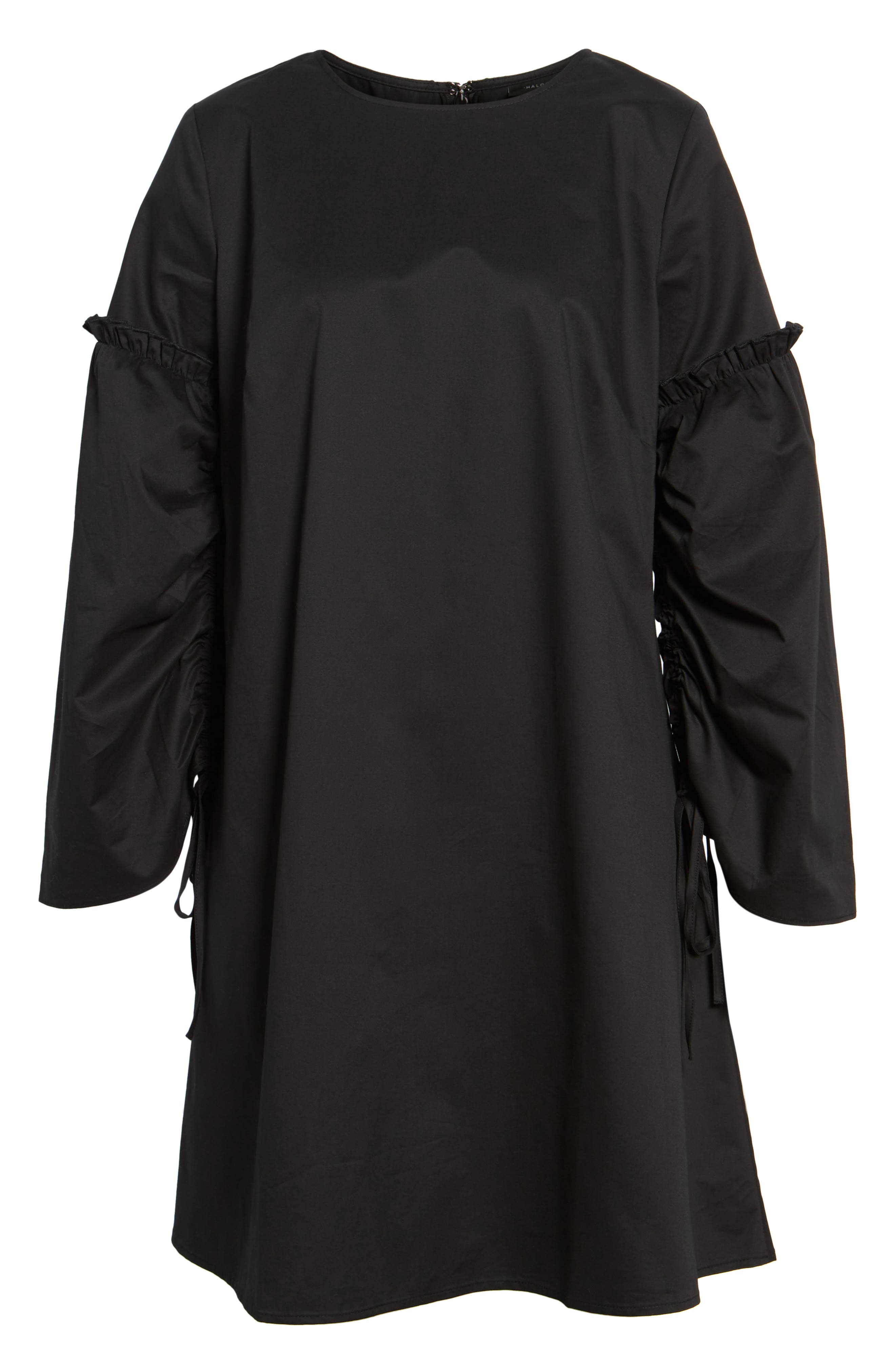 Parachute Sleeve Shift Dress,                             Alternate thumbnail 6, color,                             001
