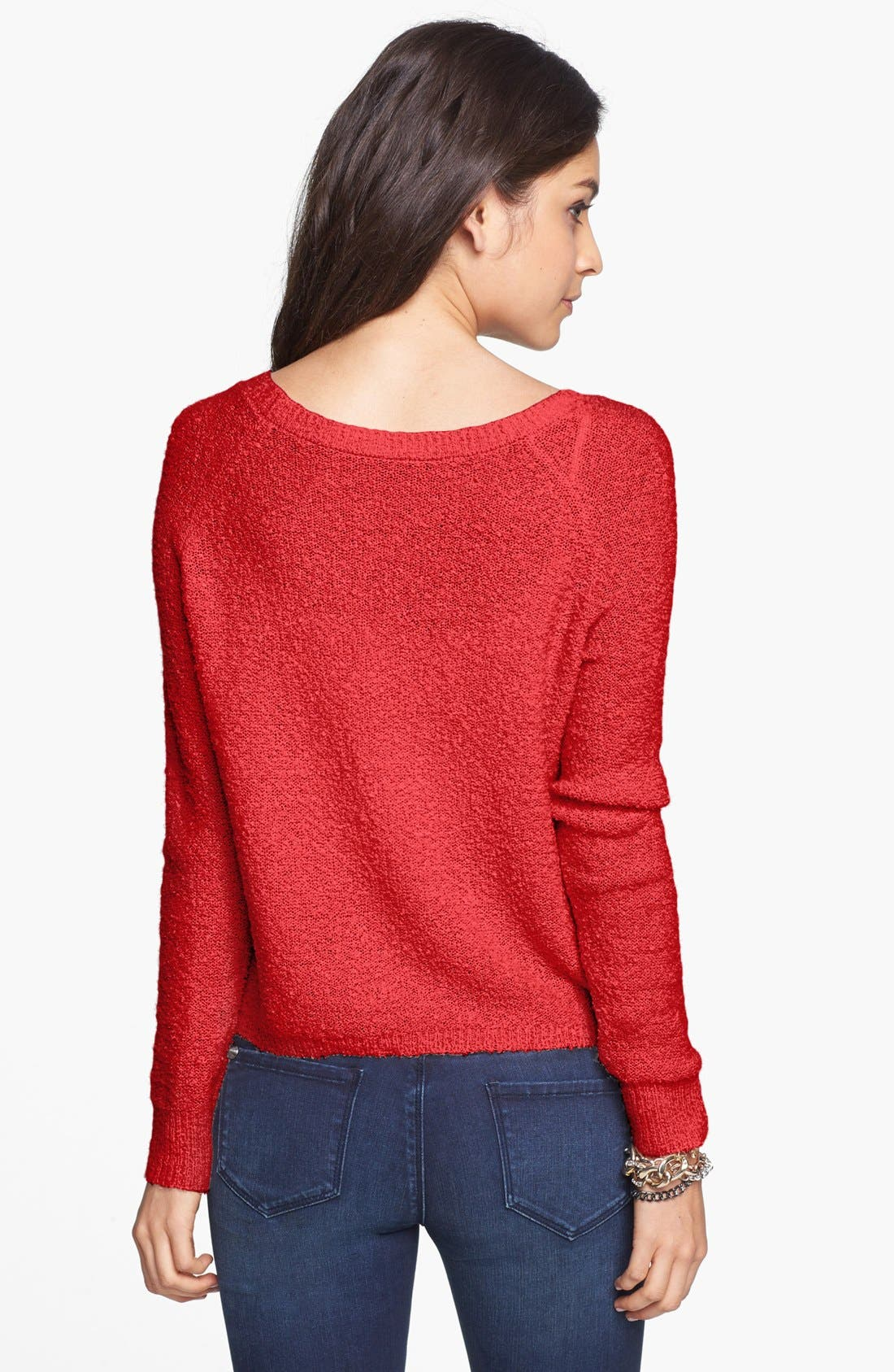 'Grunge' Textured Sweater,                             Alternate thumbnail 17, color,