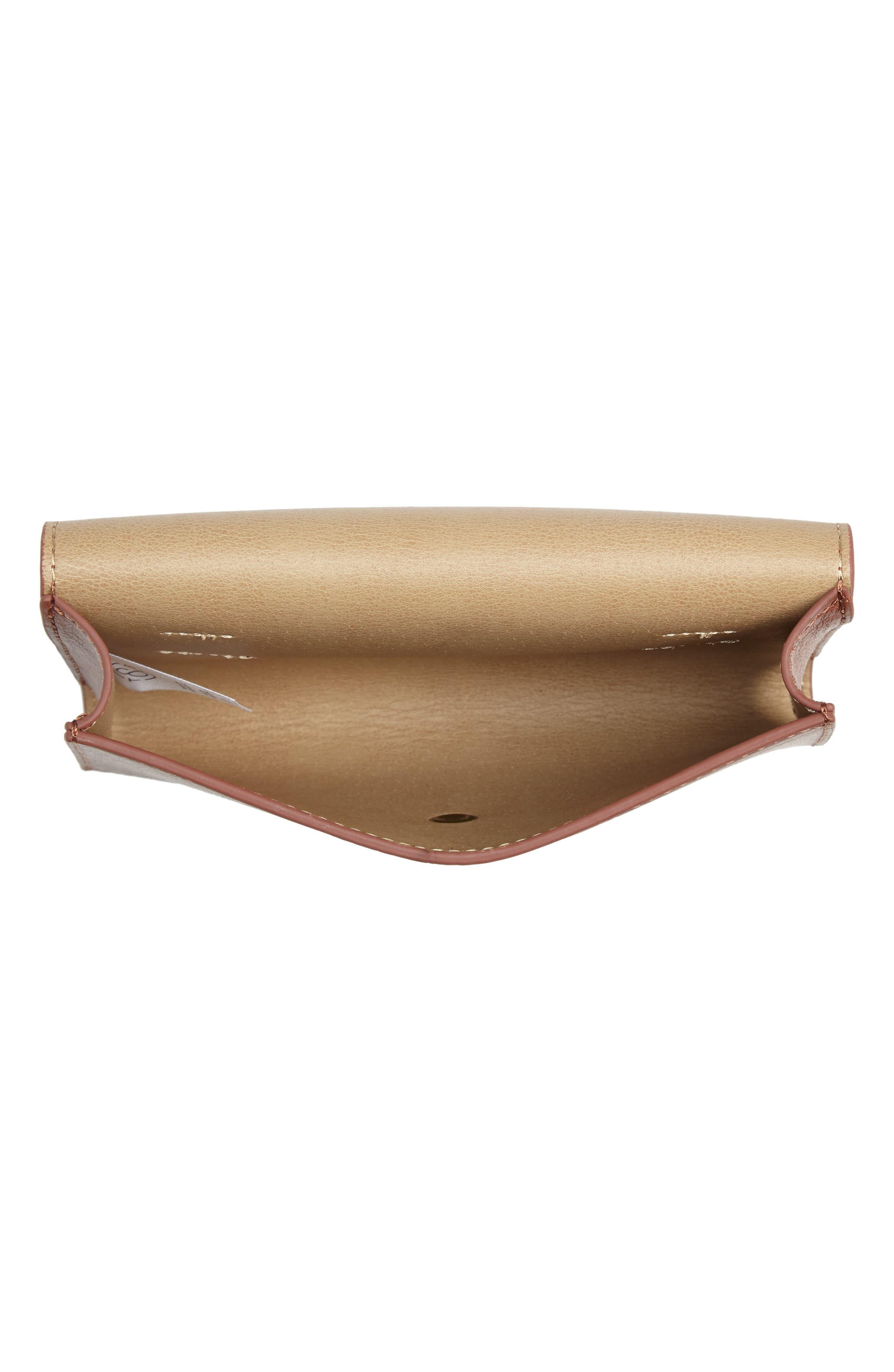 Faux Leather Belt Bag,                             Alternate thumbnail 5, color,                             COGNAC