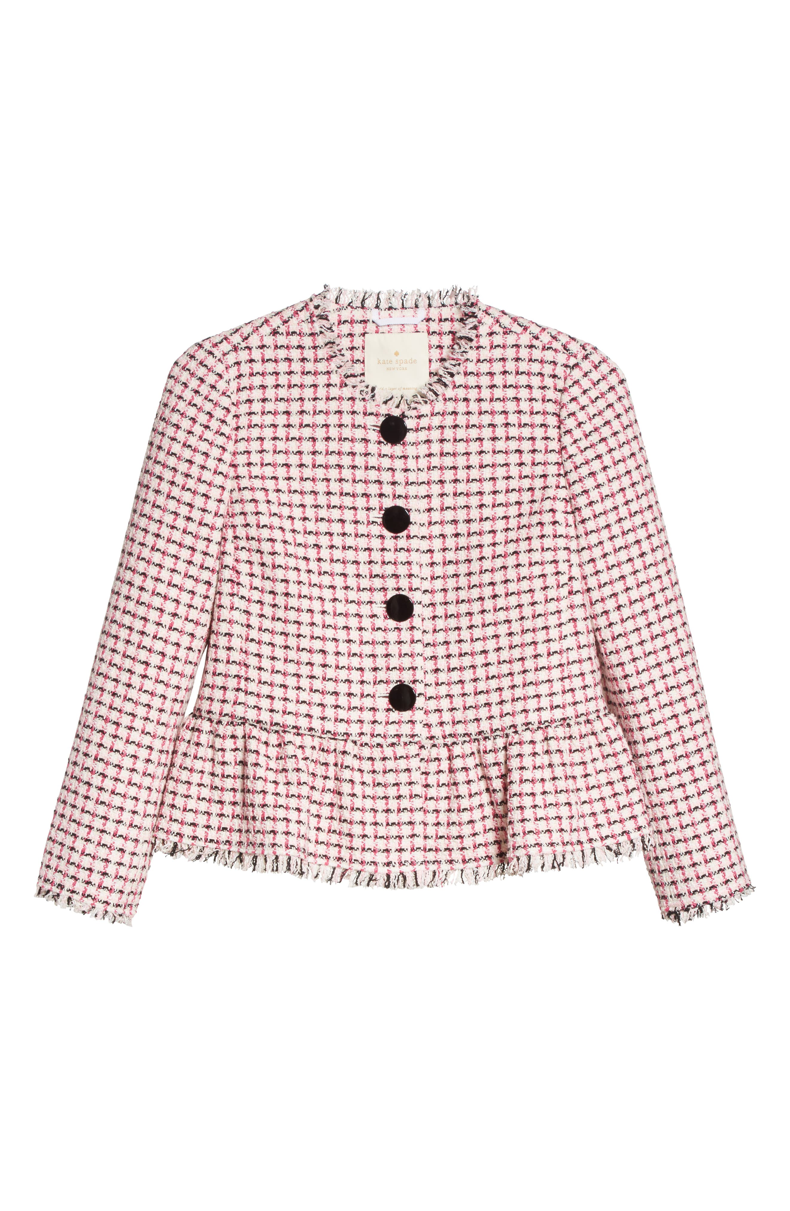 tweed peplum jacket,                             Alternate thumbnail 5, color,                             650