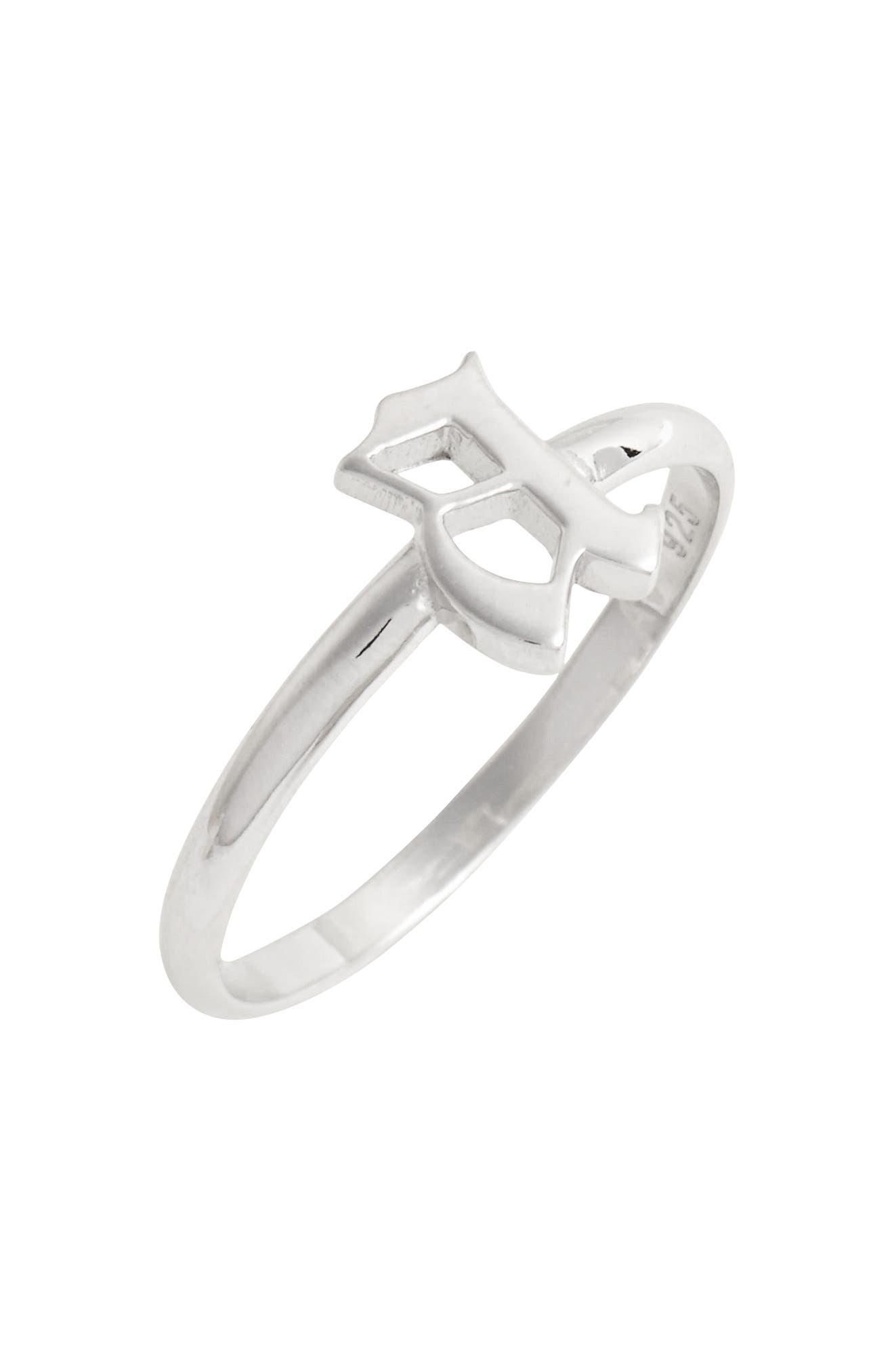 Gothic Initial Ring,                             Main thumbnail 1, color,                             040