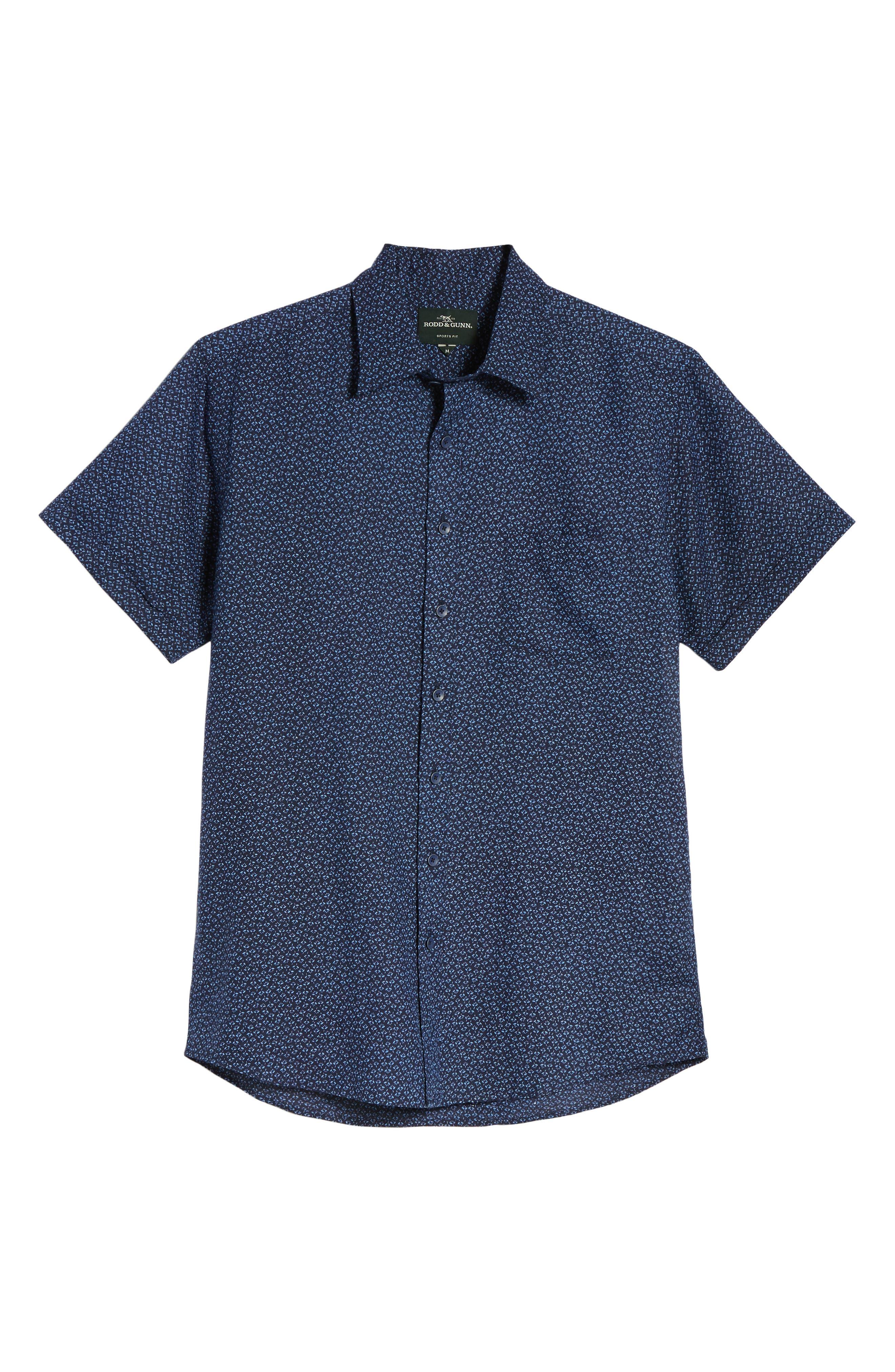 Windermere Linen & Cotton Sport Shirt,                             Alternate thumbnail 6, color,                             INDIGO