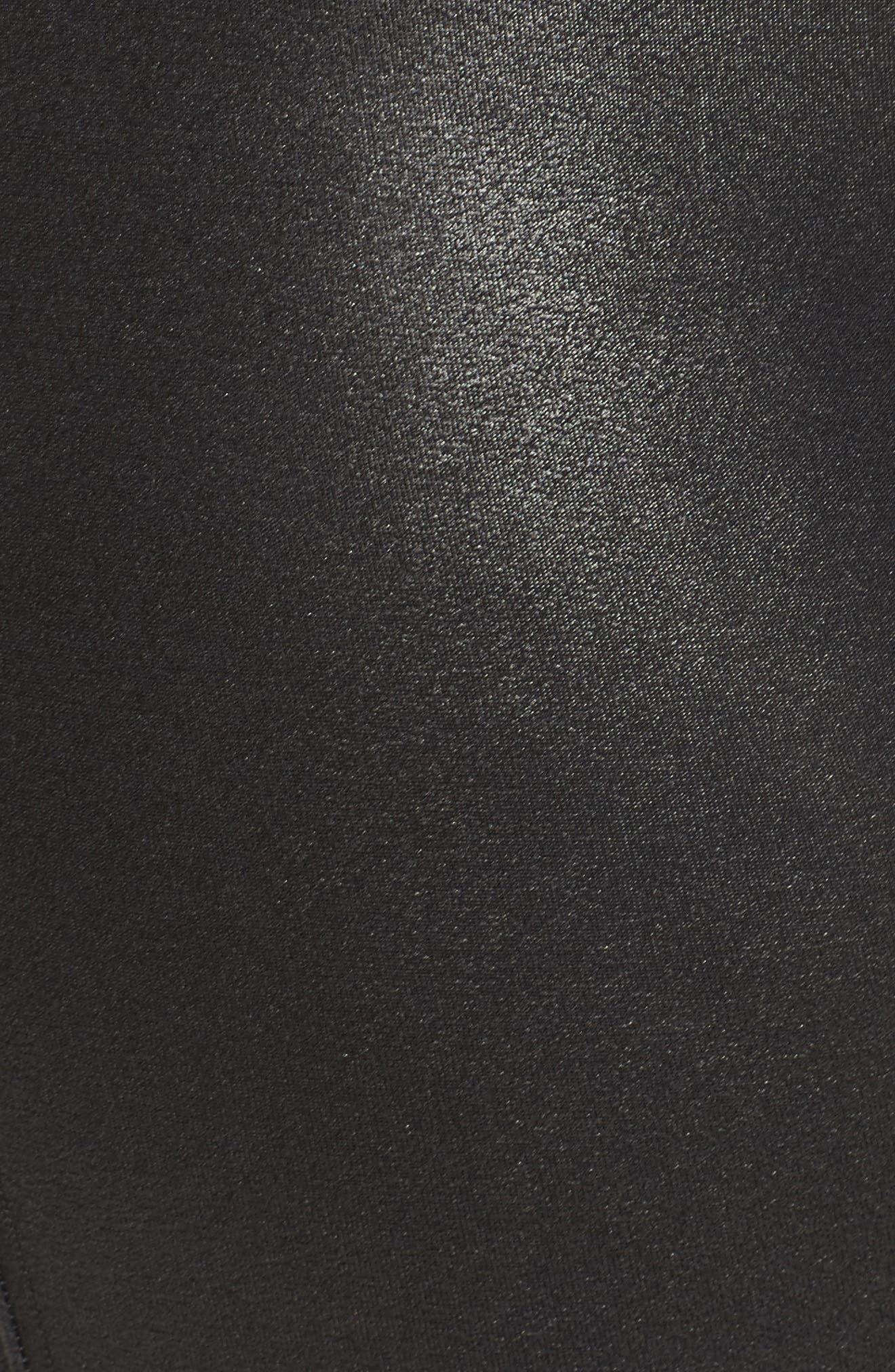Faux Leather Leggings,                             Alternate thumbnail 7, color,                             BLACK