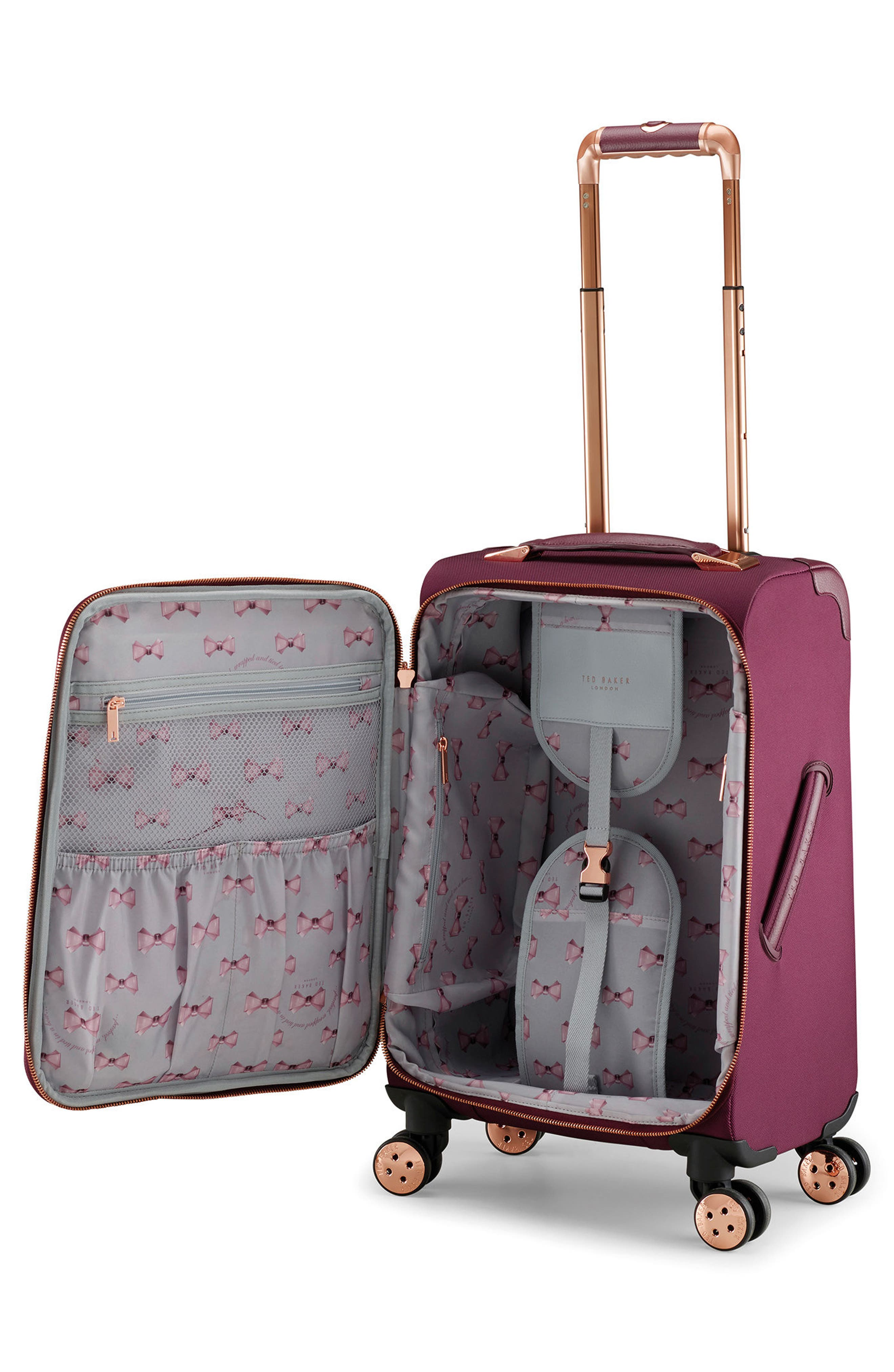 22-Inch Spinner Trolley Packing Case,                             Alternate thumbnail 2, color,                             BURGUNDY