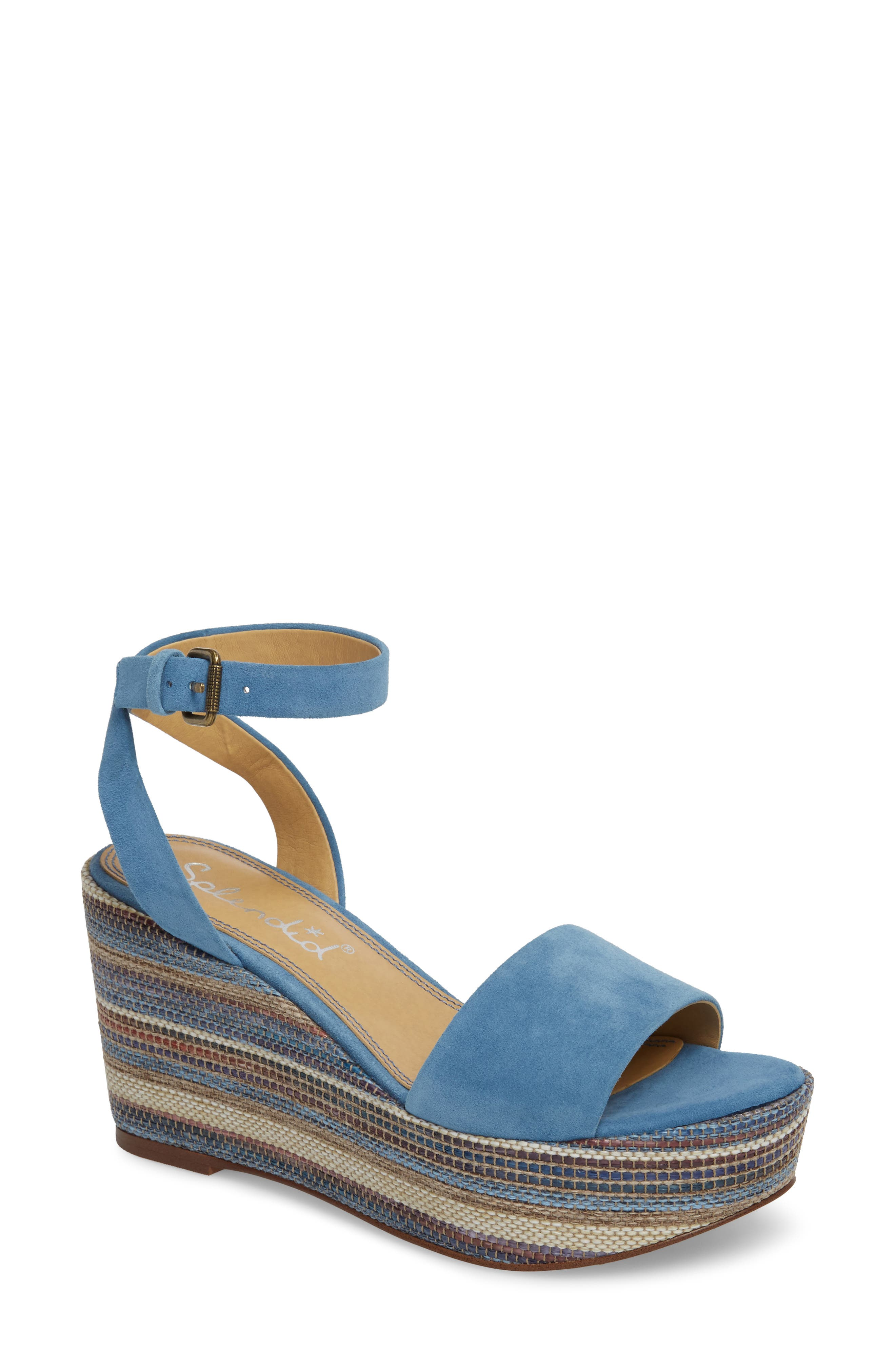Felix Platform Wedge Sandal,                             Main thumbnail 1, color,                             BLUE HORIZON SUEDE