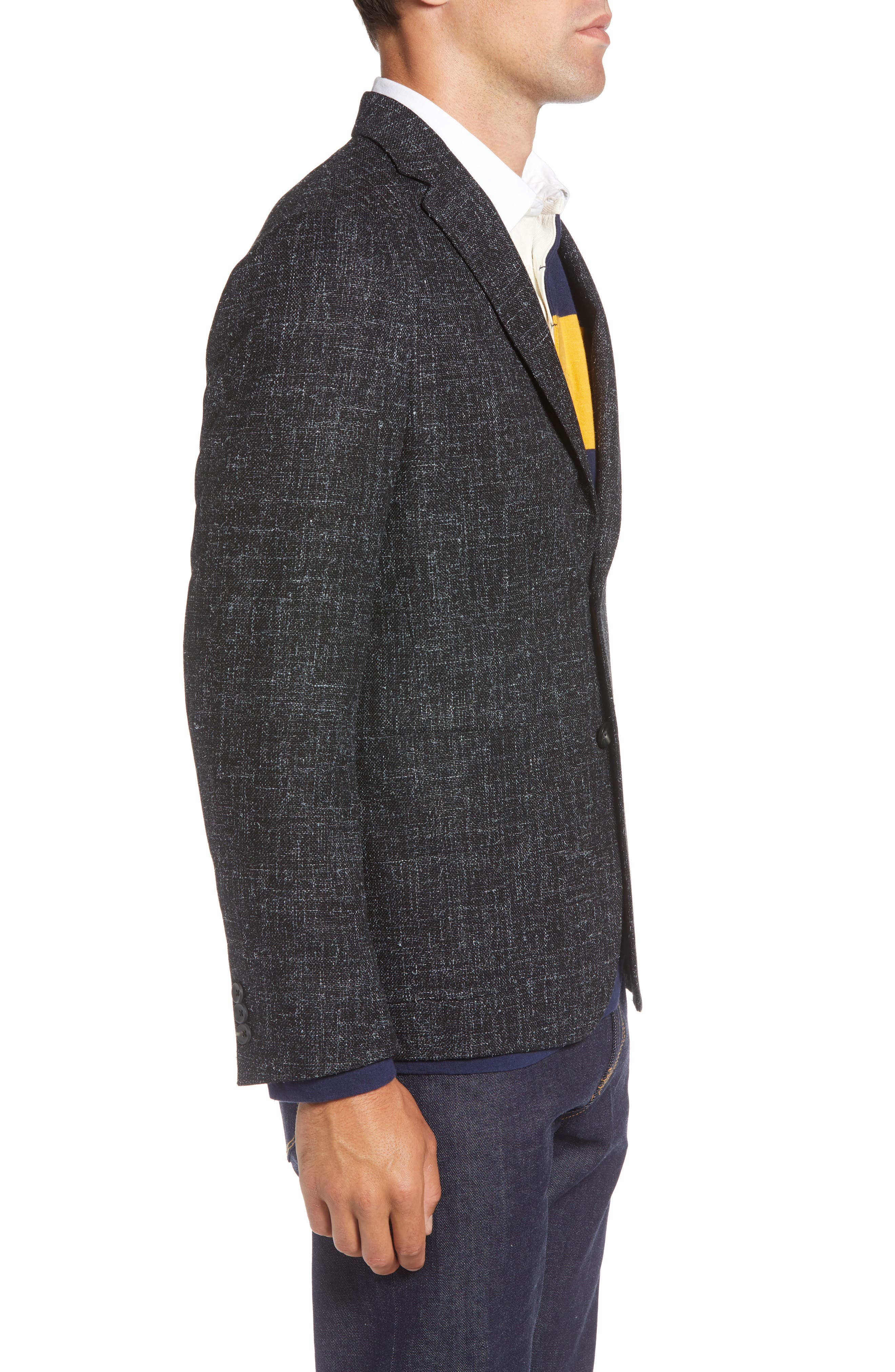1901,                             Extra Trim Fit Wool Blend Sport Coat,                             Alternate thumbnail 3, color,                             001