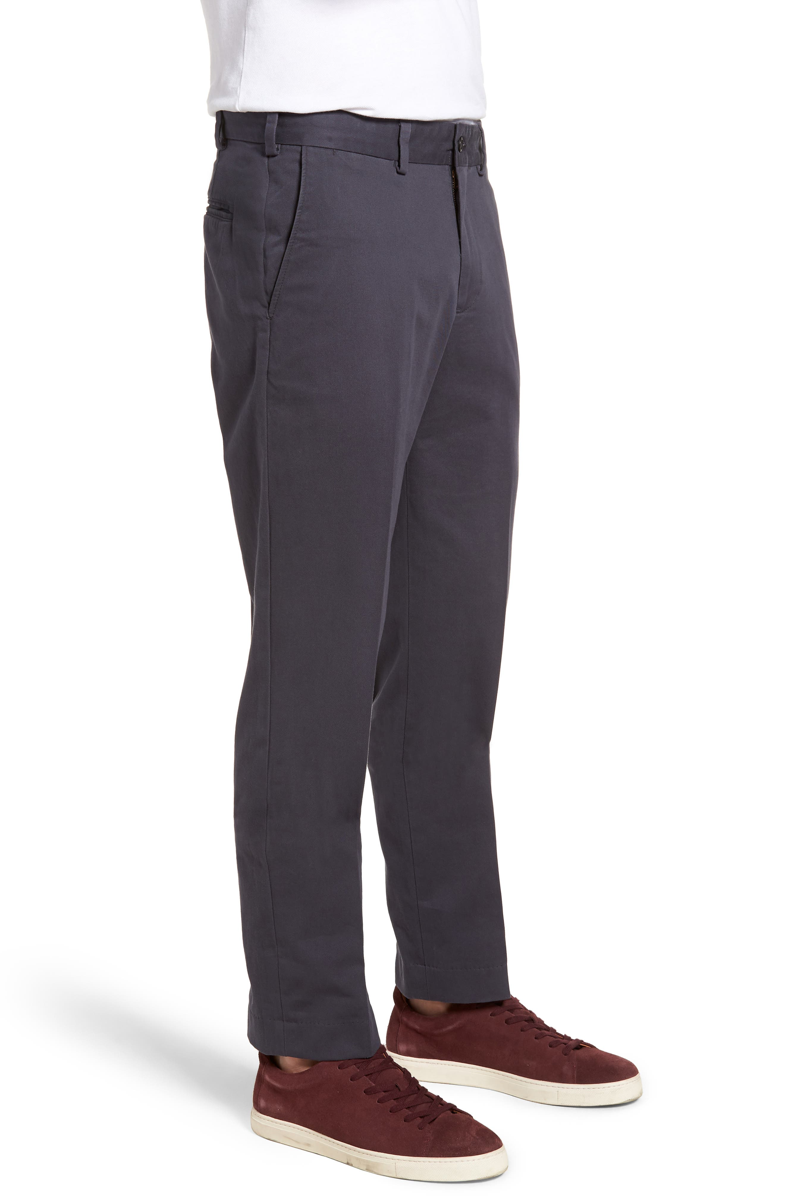 M3 Straight Fit Flat Front Vintage Twill Pants,                             Alternate thumbnail 3, color,