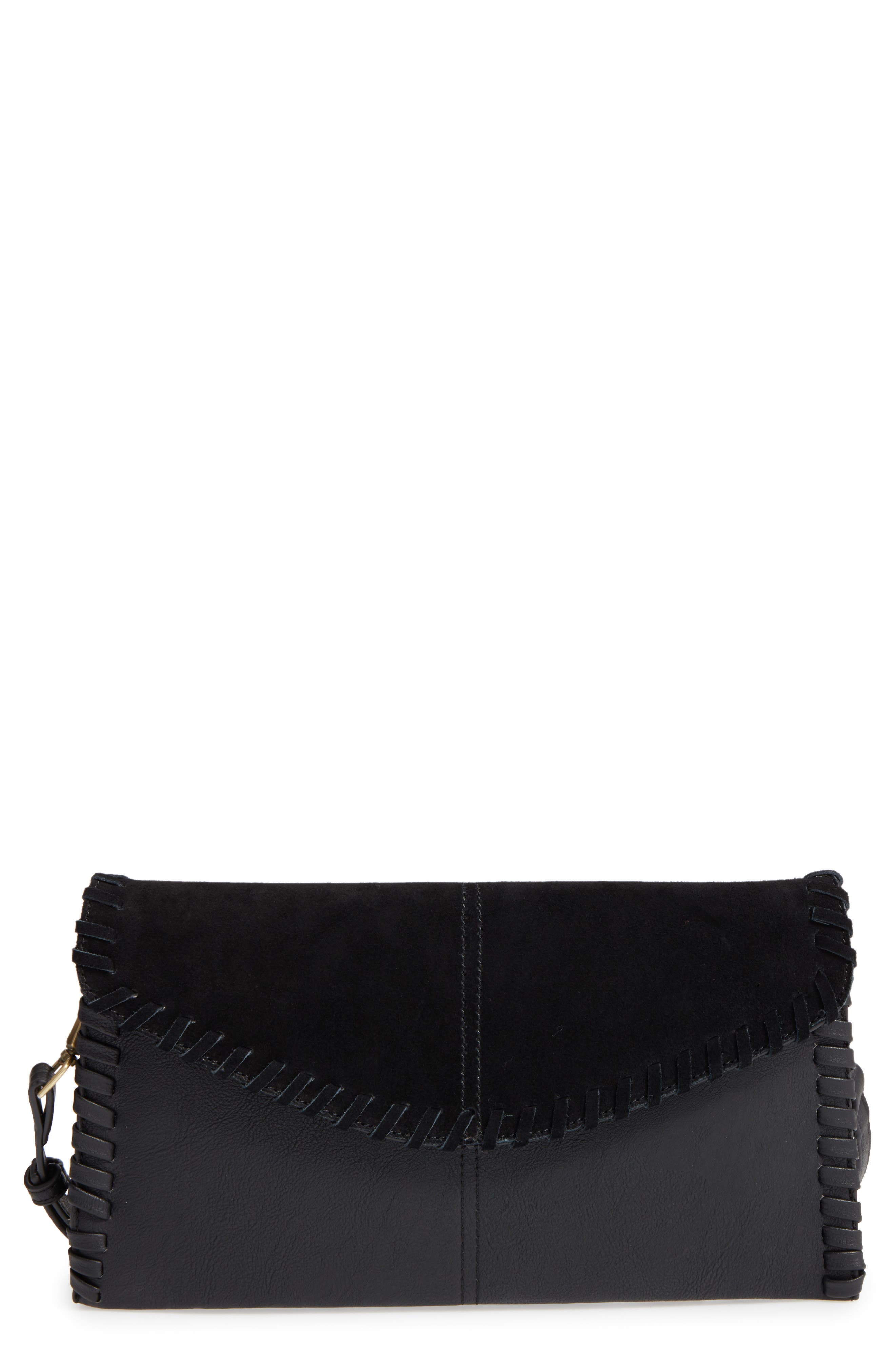 SOLE SOCIETY Waverly Whipstitch Clutch, Main, color, 001