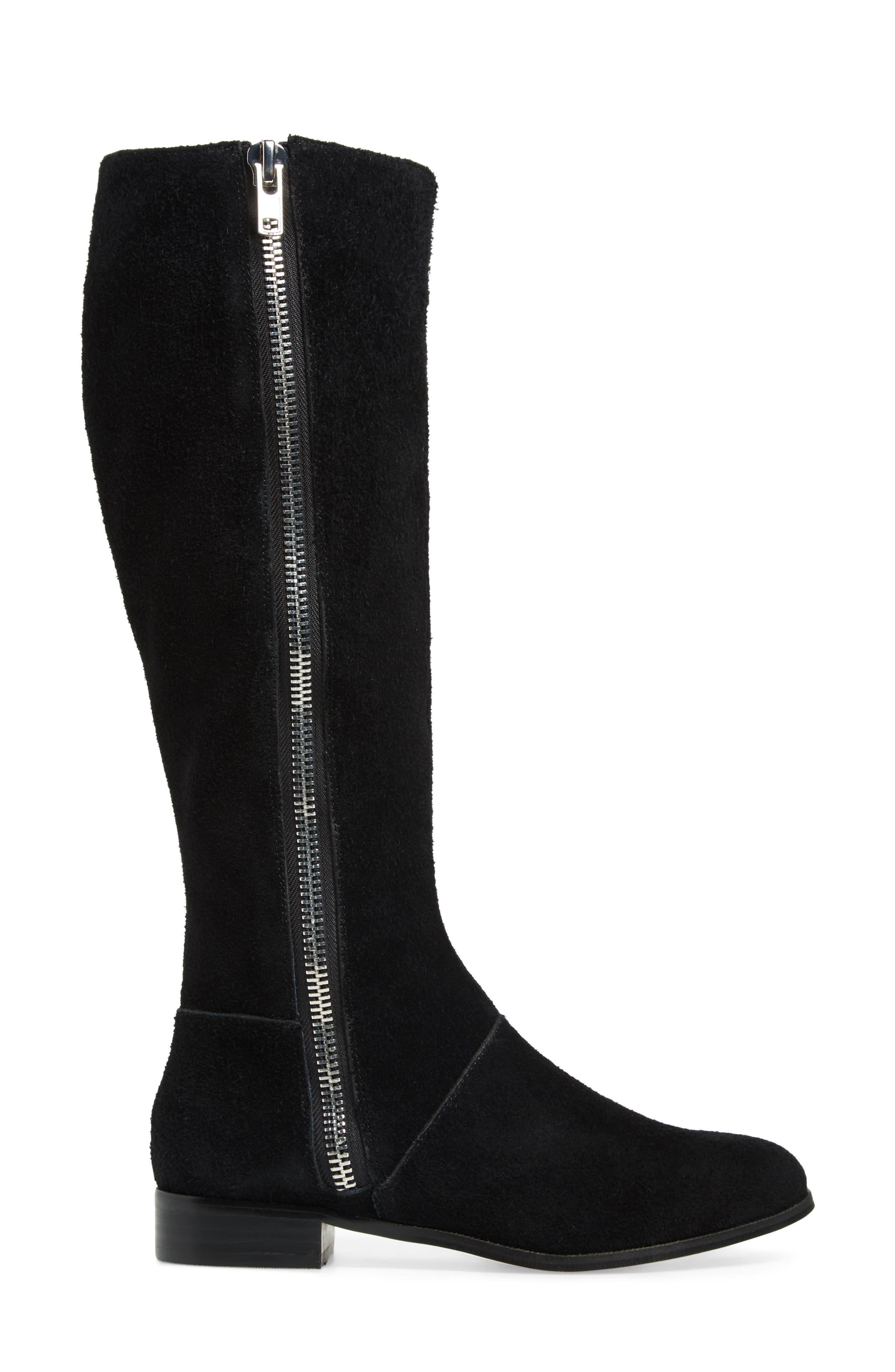 M4D3,                             Ramsey Knee High Boot,                             Alternate thumbnail 3, color,                             BLACK SUEDE