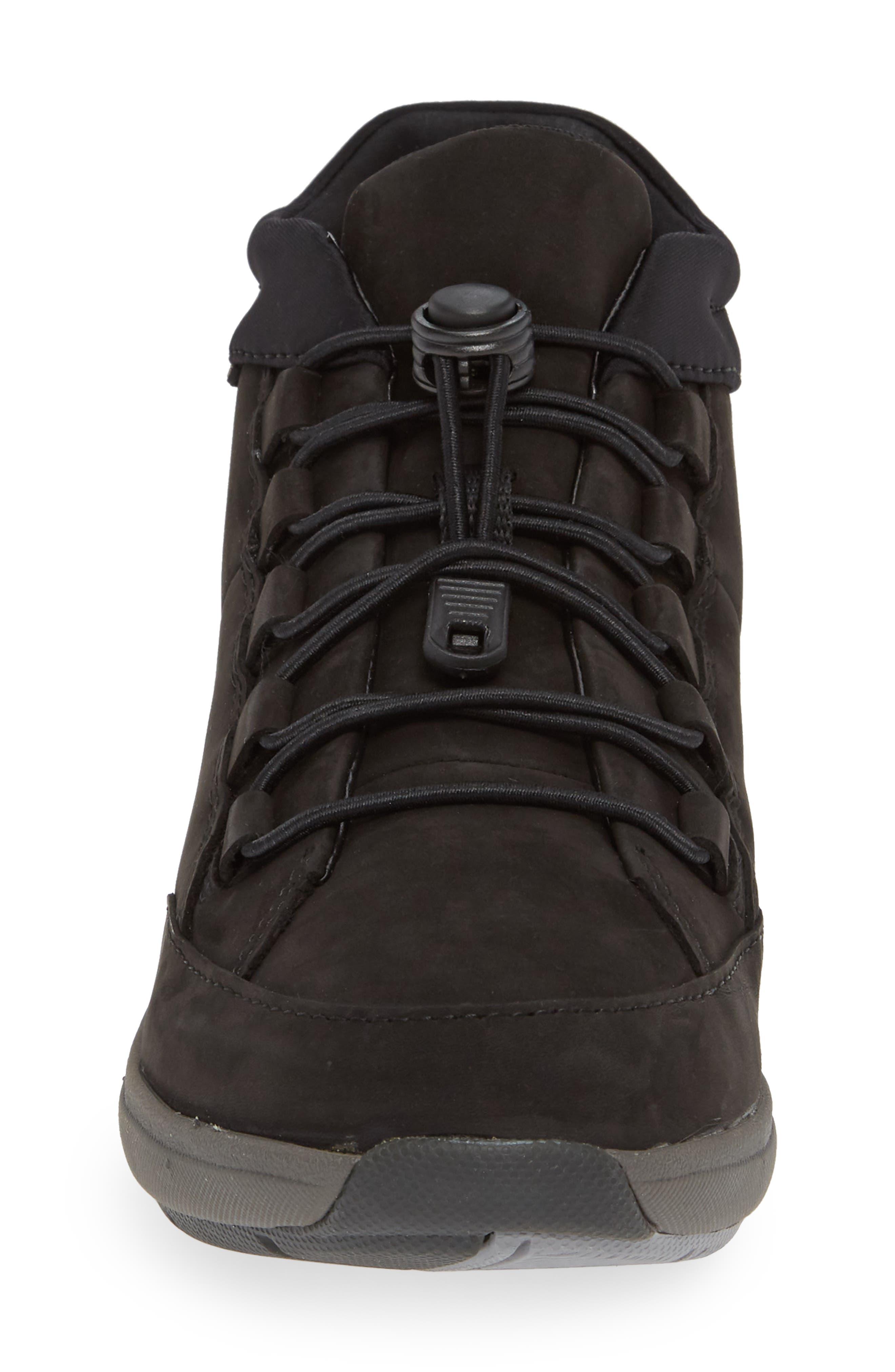 Un Cruise Lace-Up Sneaker,                             Alternate thumbnail 4, color,                             BLACK NUBUCK
