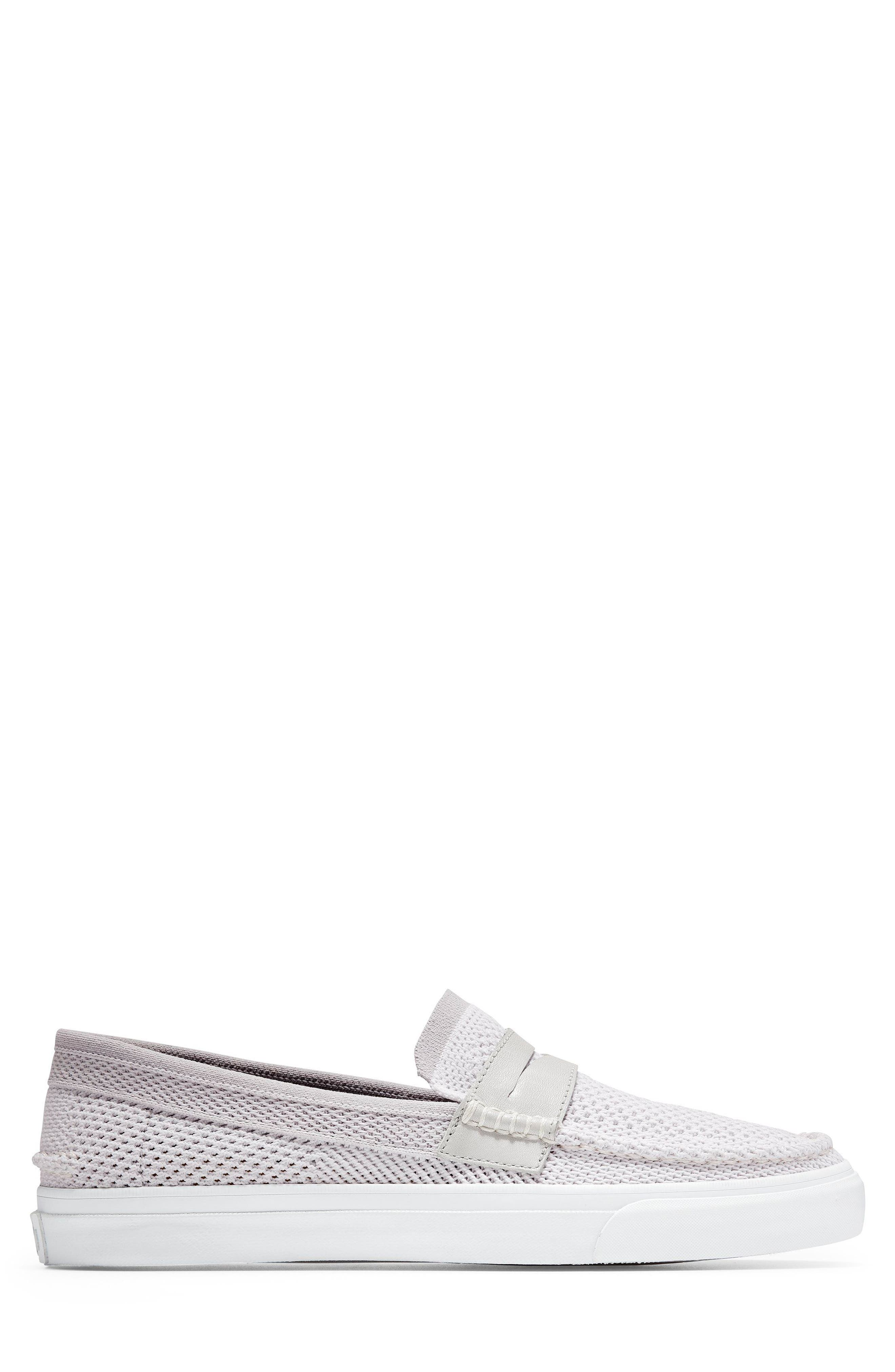 Pinch Stitch LX Stitchlite<sup>™</sup> Penny Loafer,                             Alternate thumbnail 3, color,                             VAPOR GREY /OPTIC WHITE