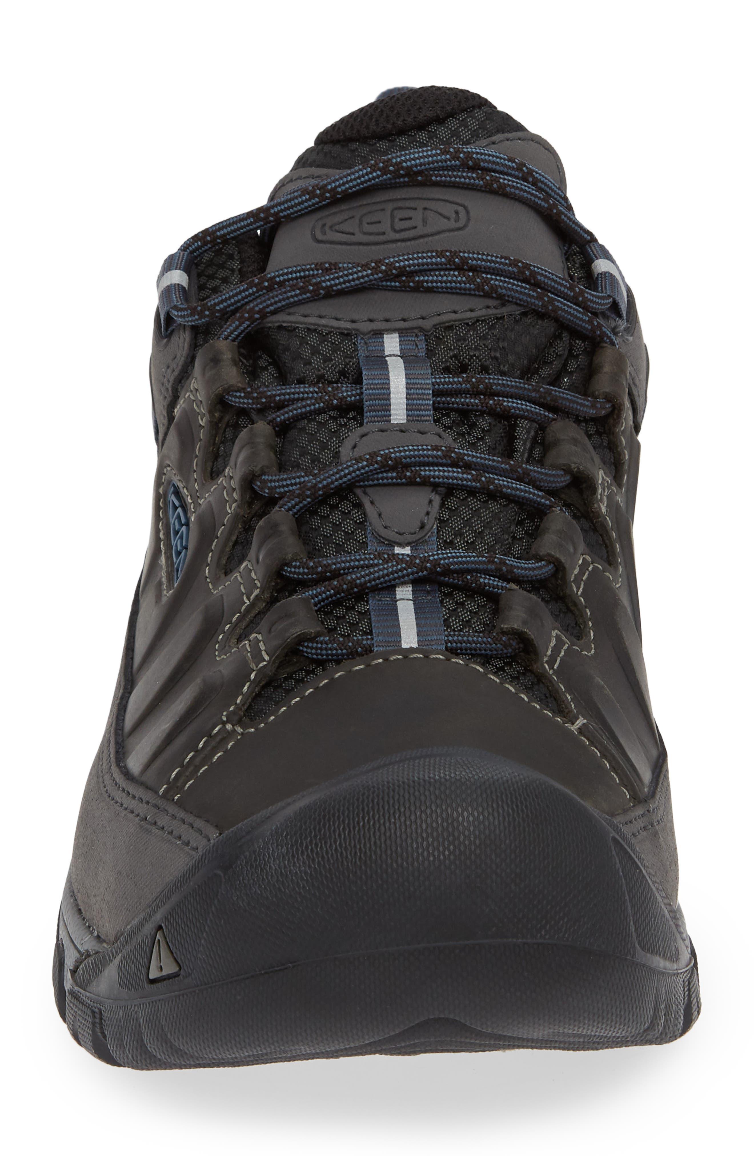 Targhee III Waterproof Hiking Shoe,                             Alternate thumbnail 4, color,                             STEEL GREY/ CAPTAINS BLUE