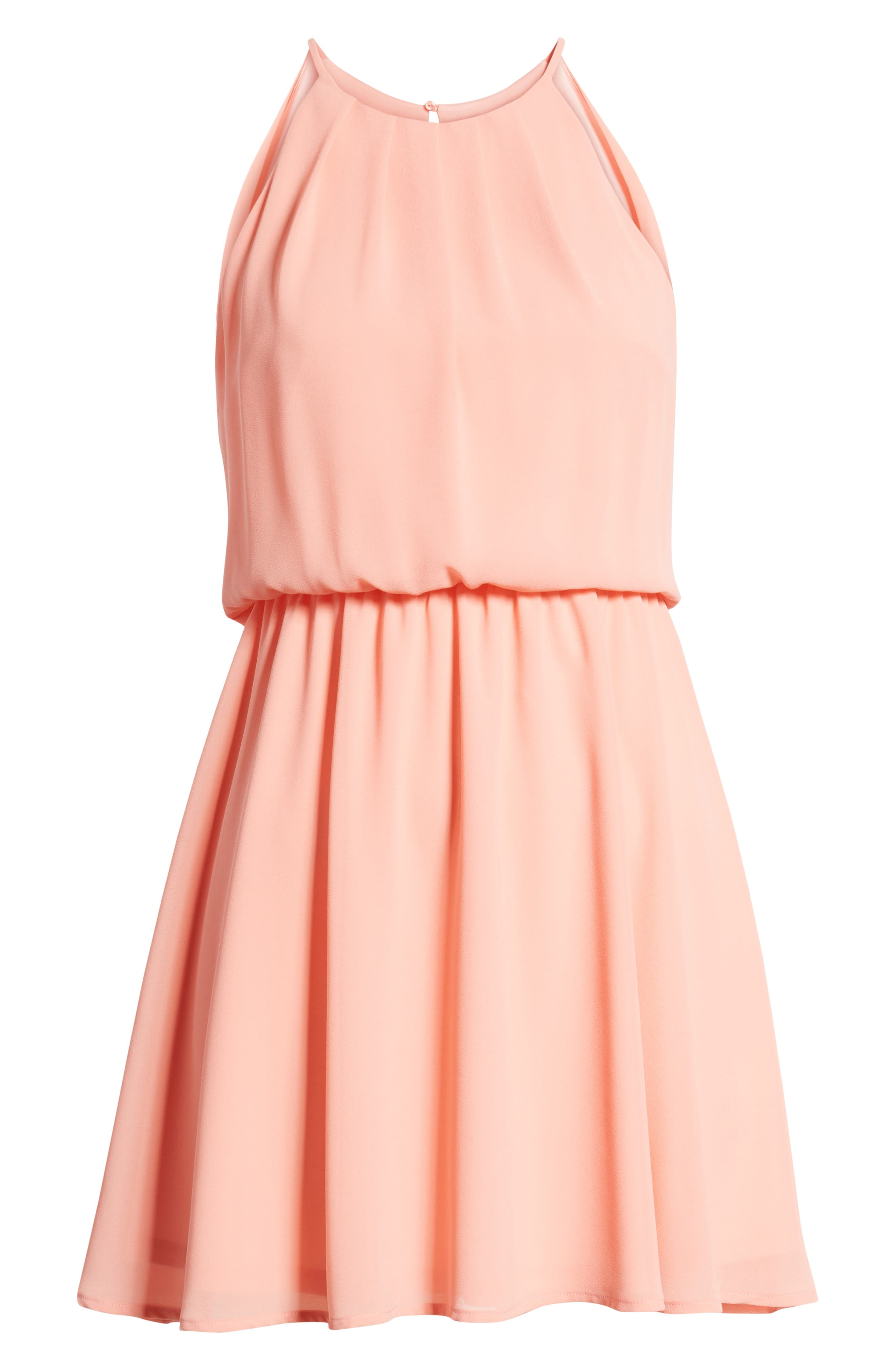 Blouson Chiffon Skater Dress,                             Alternate thumbnail 242, color,