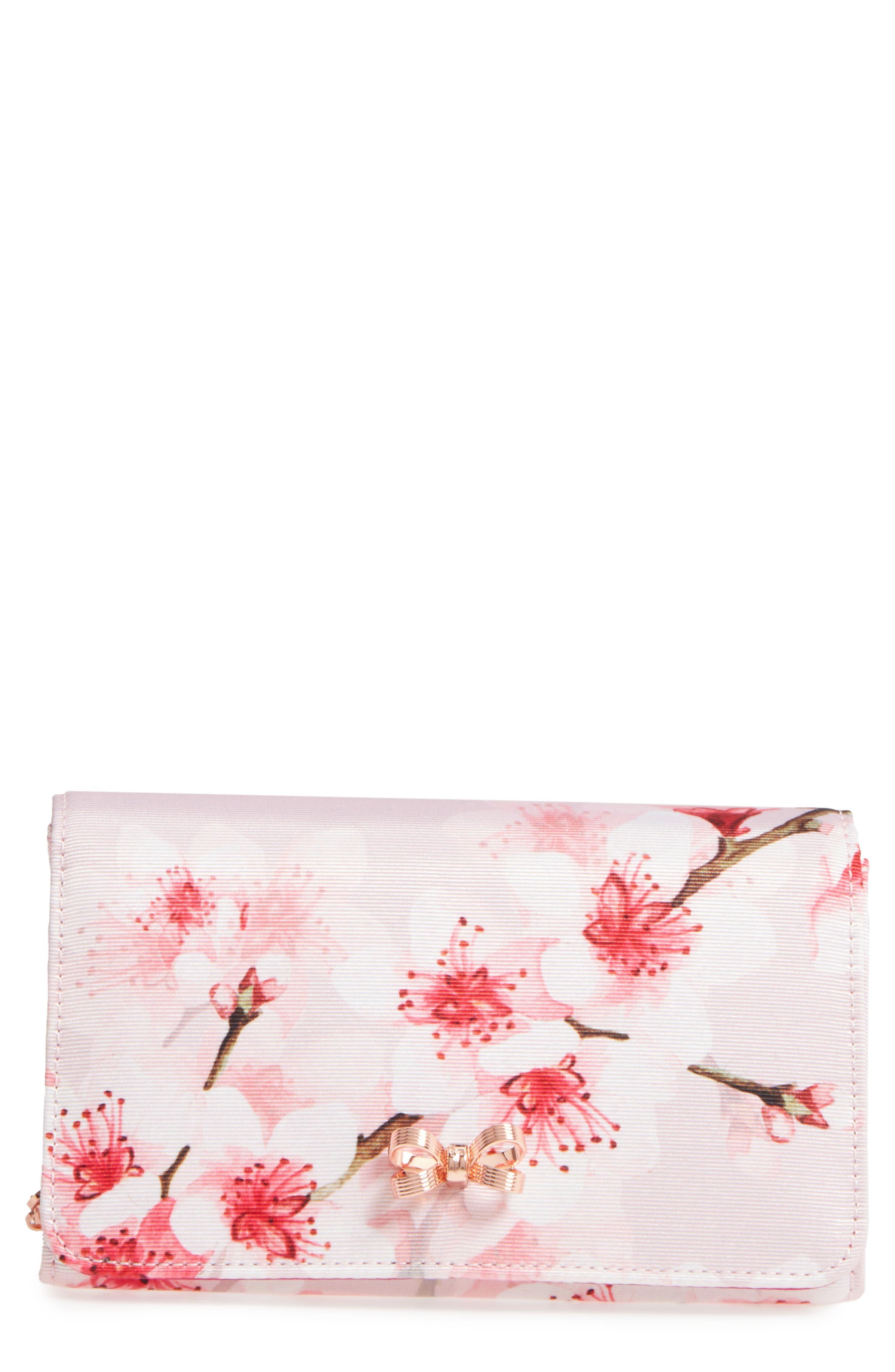 Basina Floral Print Clutch,                         Main,                         color, 683