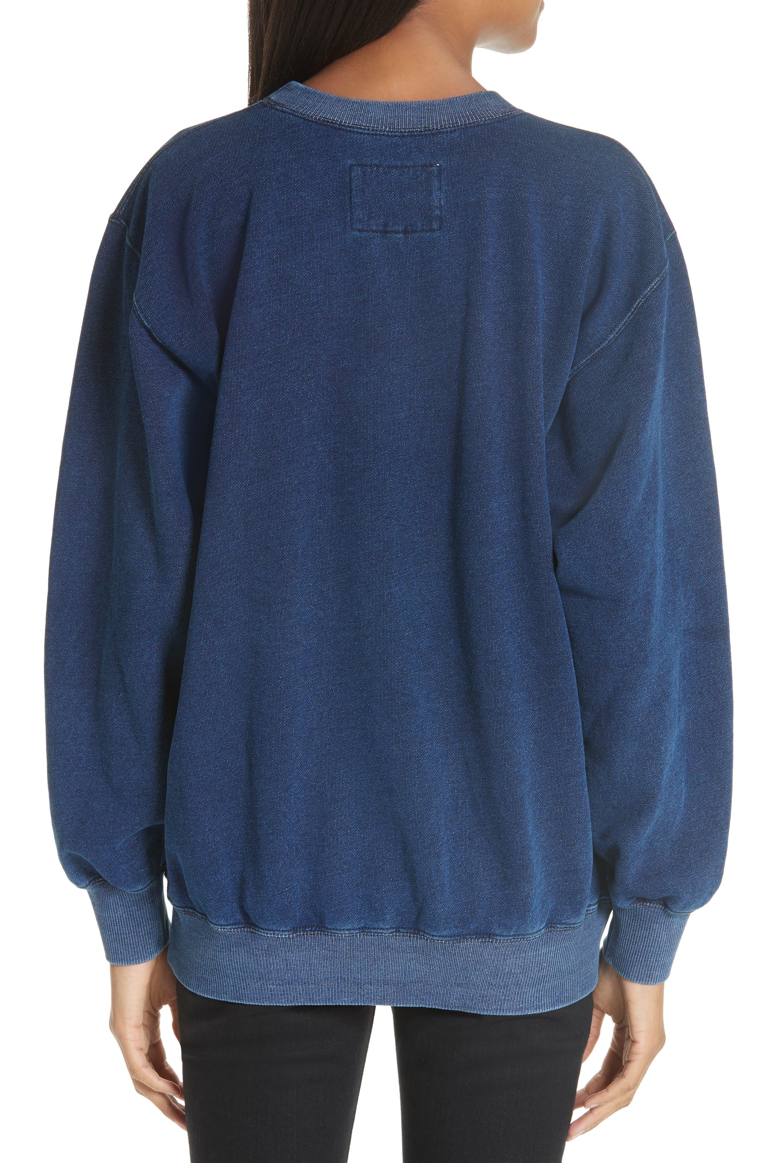 Lace Patch Sweatshirt,                             Alternate thumbnail 2, color,                             400