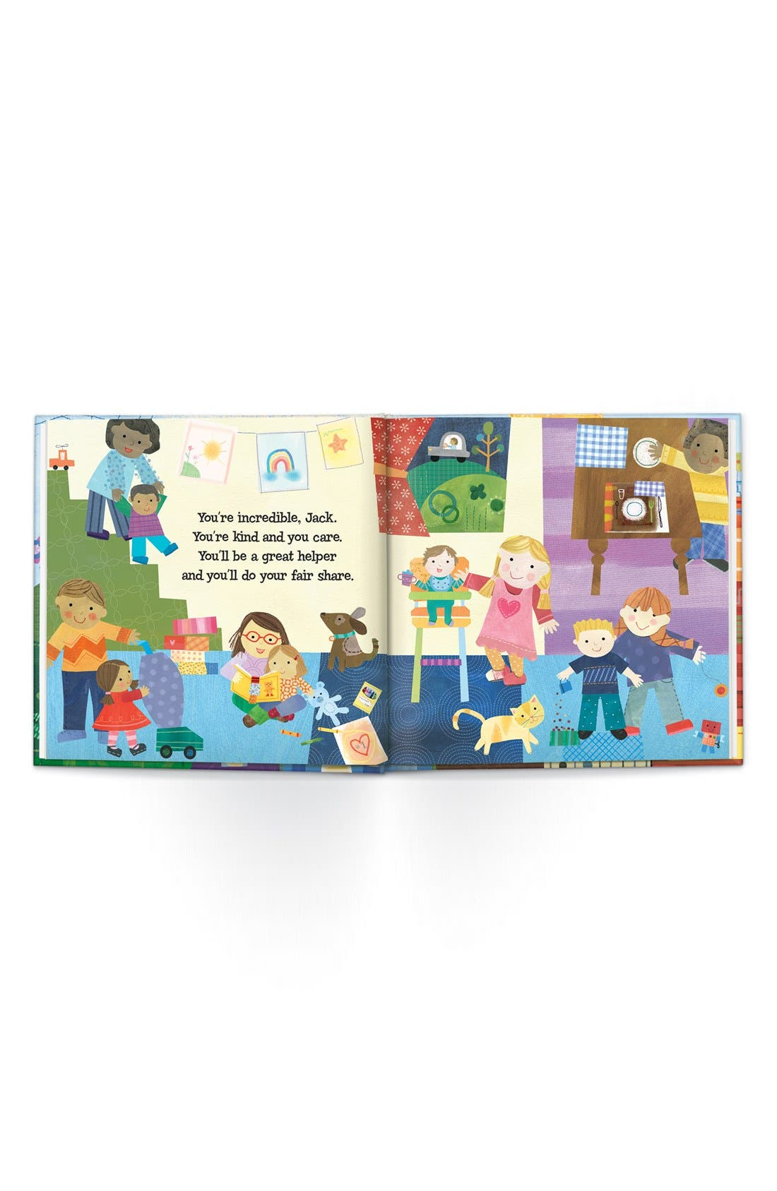 'The Super, Incredible Big Brother' Personalized Hardcover Book & Medal,                             Alternate thumbnail 4, color,                             BLUE