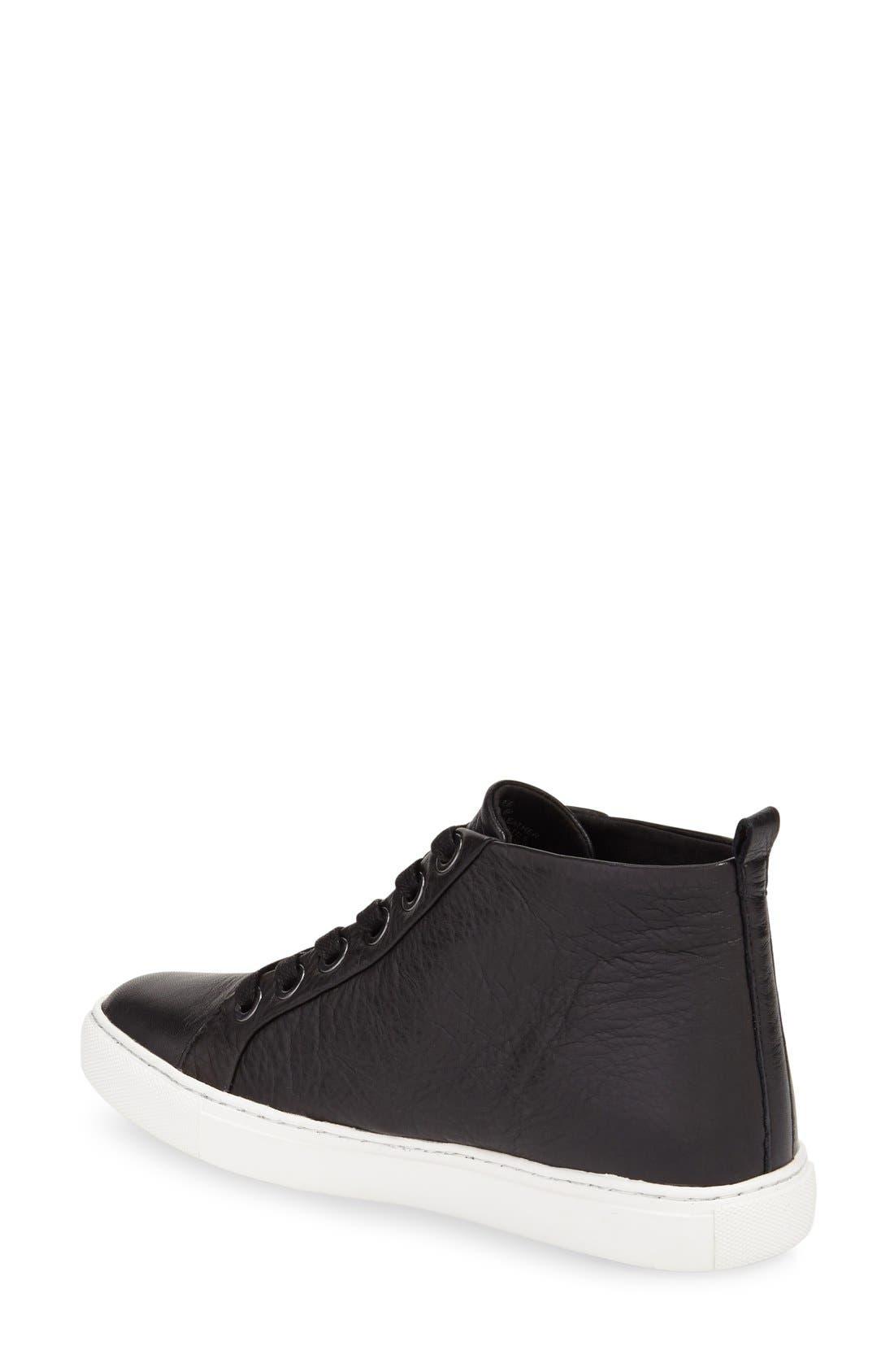 'Kaleb' High Top Sneaker,                             Alternate thumbnail 3, color,                             001