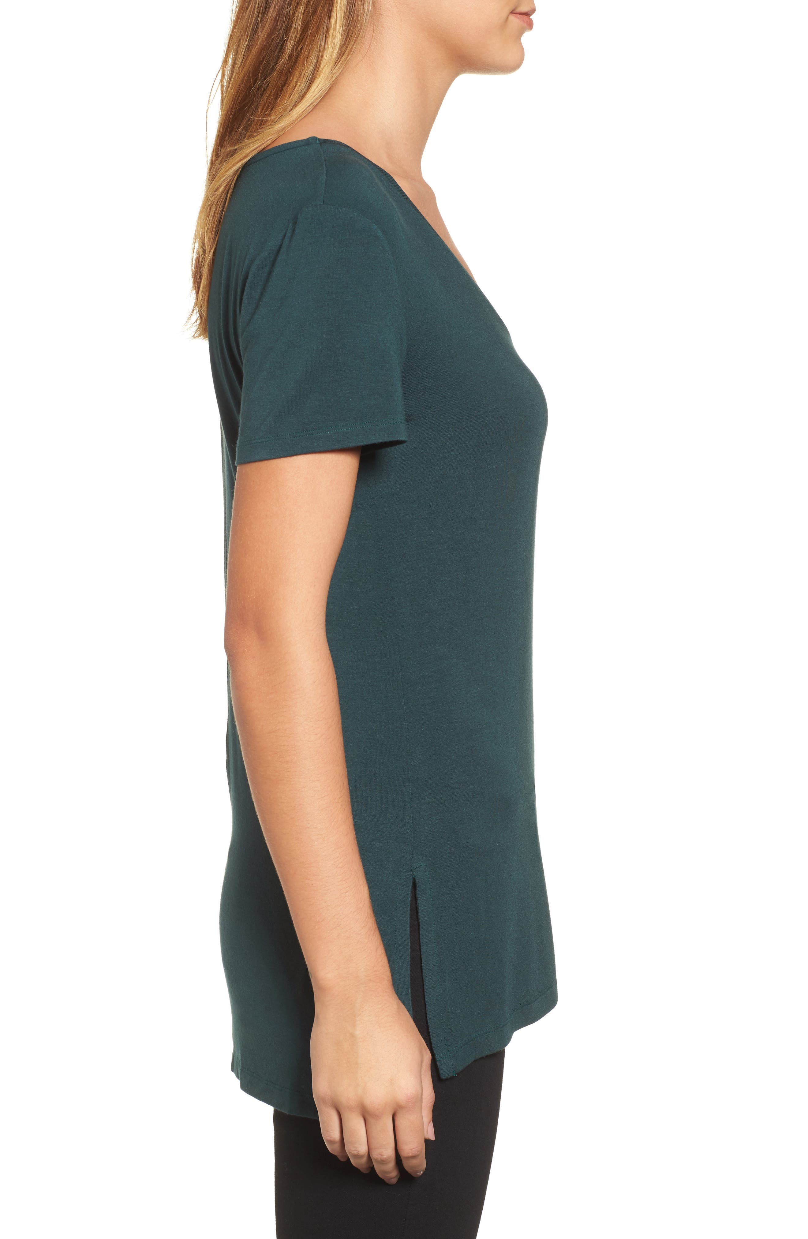 V-Neck Tunic Tee,                             Alternate thumbnail 27, color,