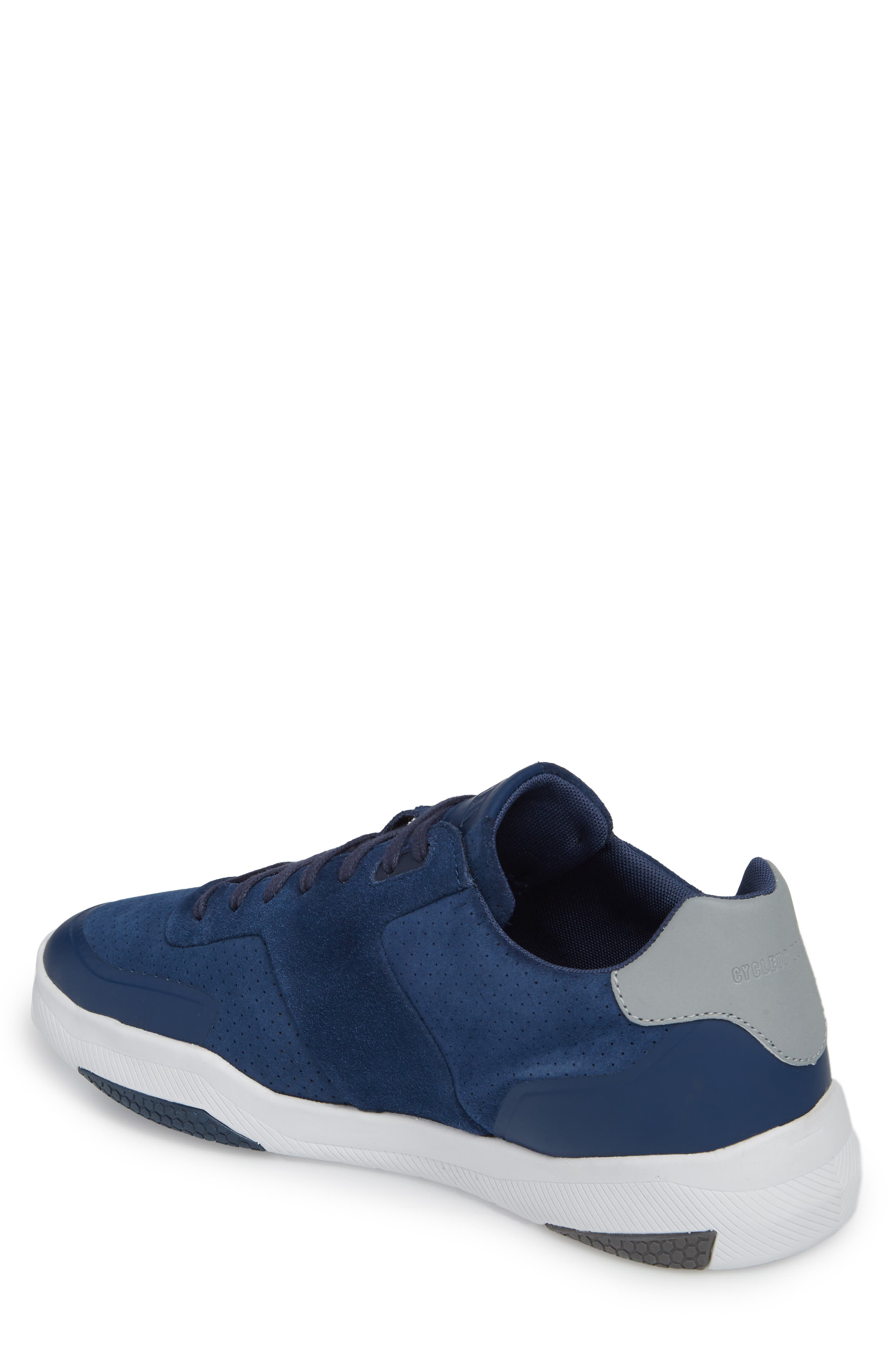 Shima Low Top Sneaker,                             Alternate thumbnail 2, color,                             NAVY SUEDE