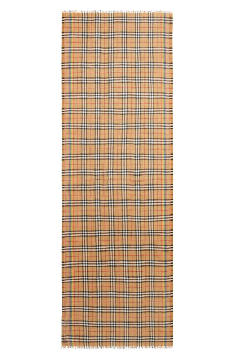 66e9034734cd0 Burberry Rainbow Stripe Vintage Check Scarf