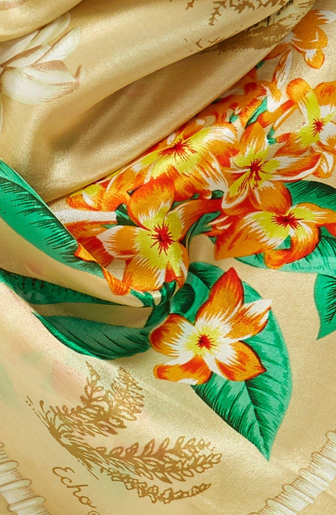 'Vintage Lily' Print Silk Square Scarf,                             Alternate thumbnail 2, color,                             254