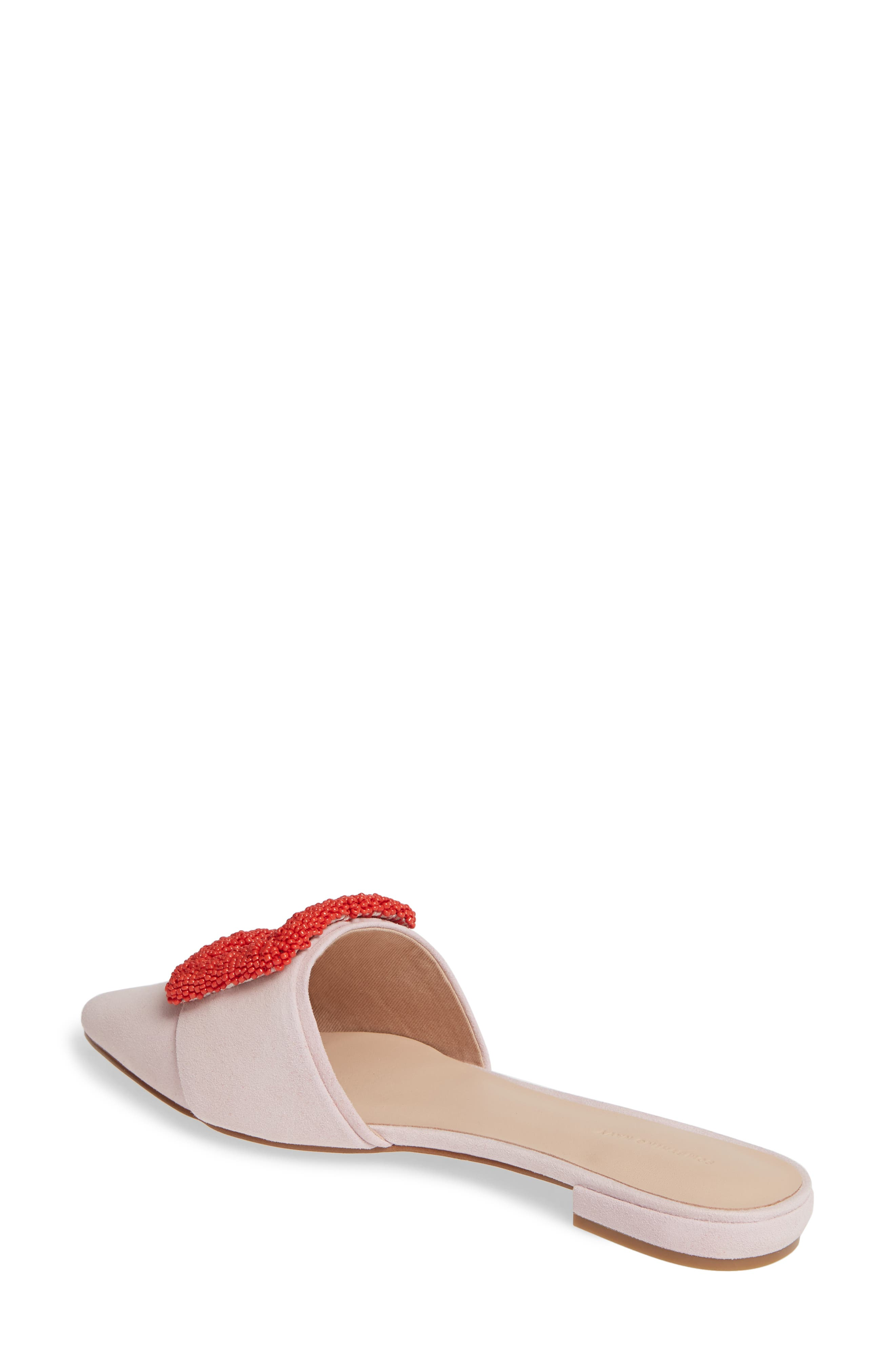 SOMETHING NAVY,                             Portia Buckle Mule,                             Alternate thumbnail 3, color,                             PINK SUEDE