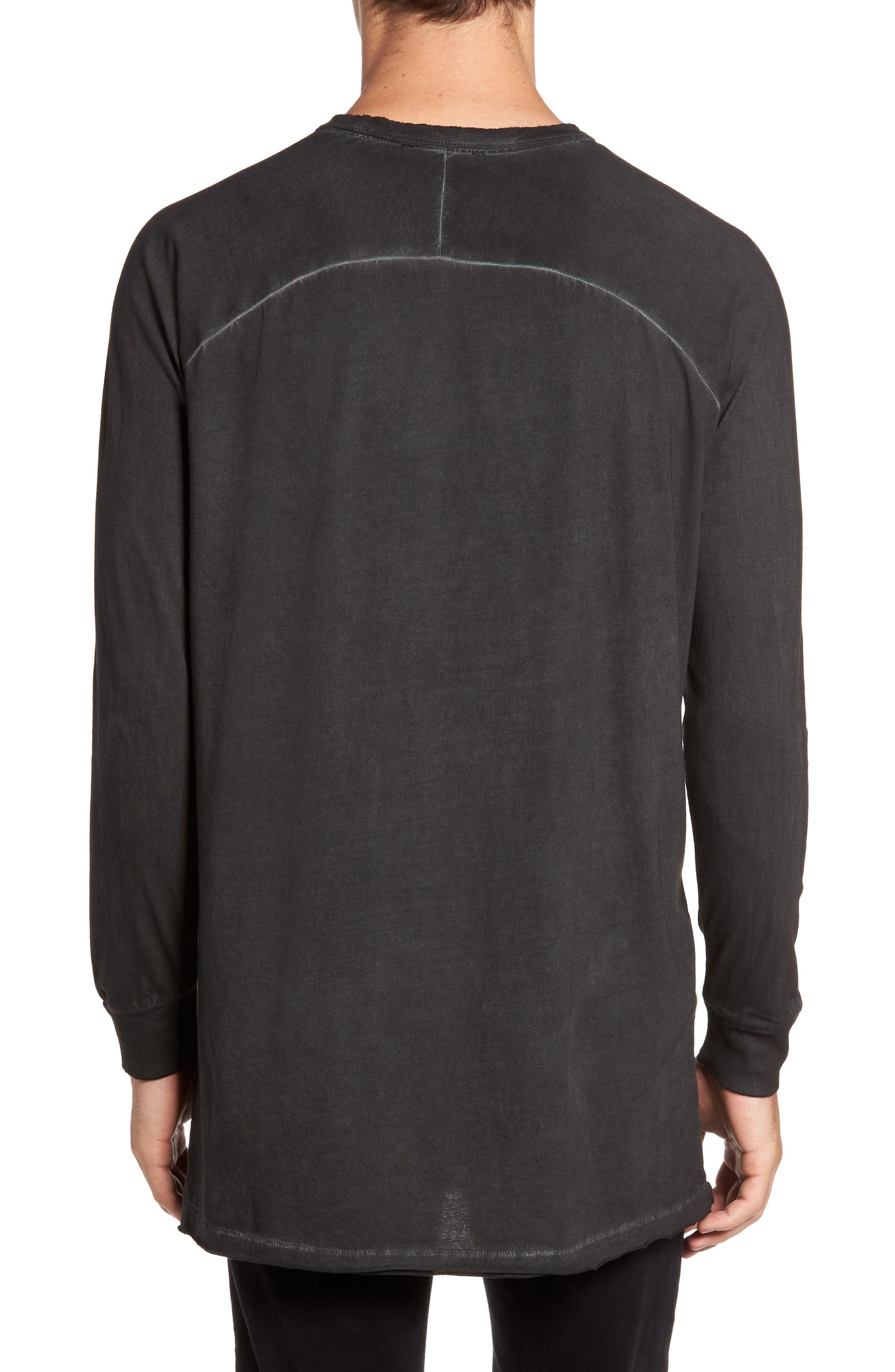 Pigment Dye Longline T-Shirt,                             Alternate thumbnail 3, color,