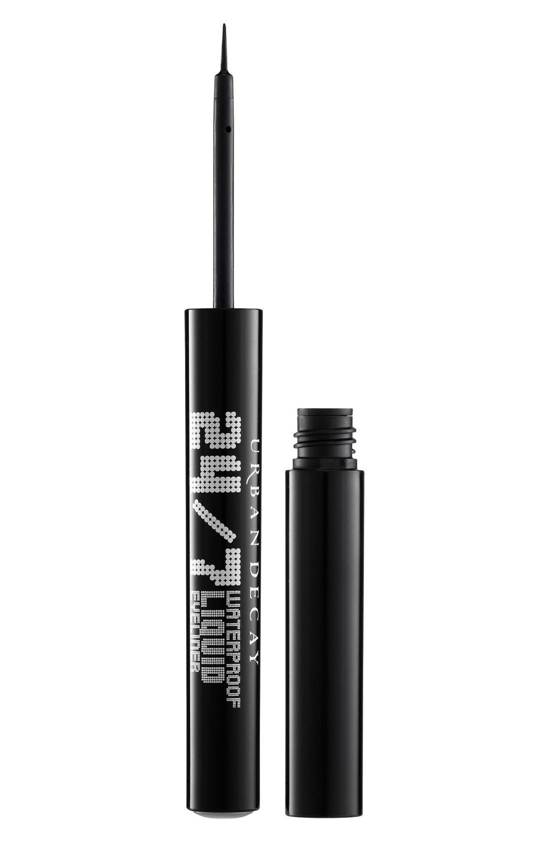 'Perversion' 24/7 Waterproof Liquid Eyeliner, Main, color, 001