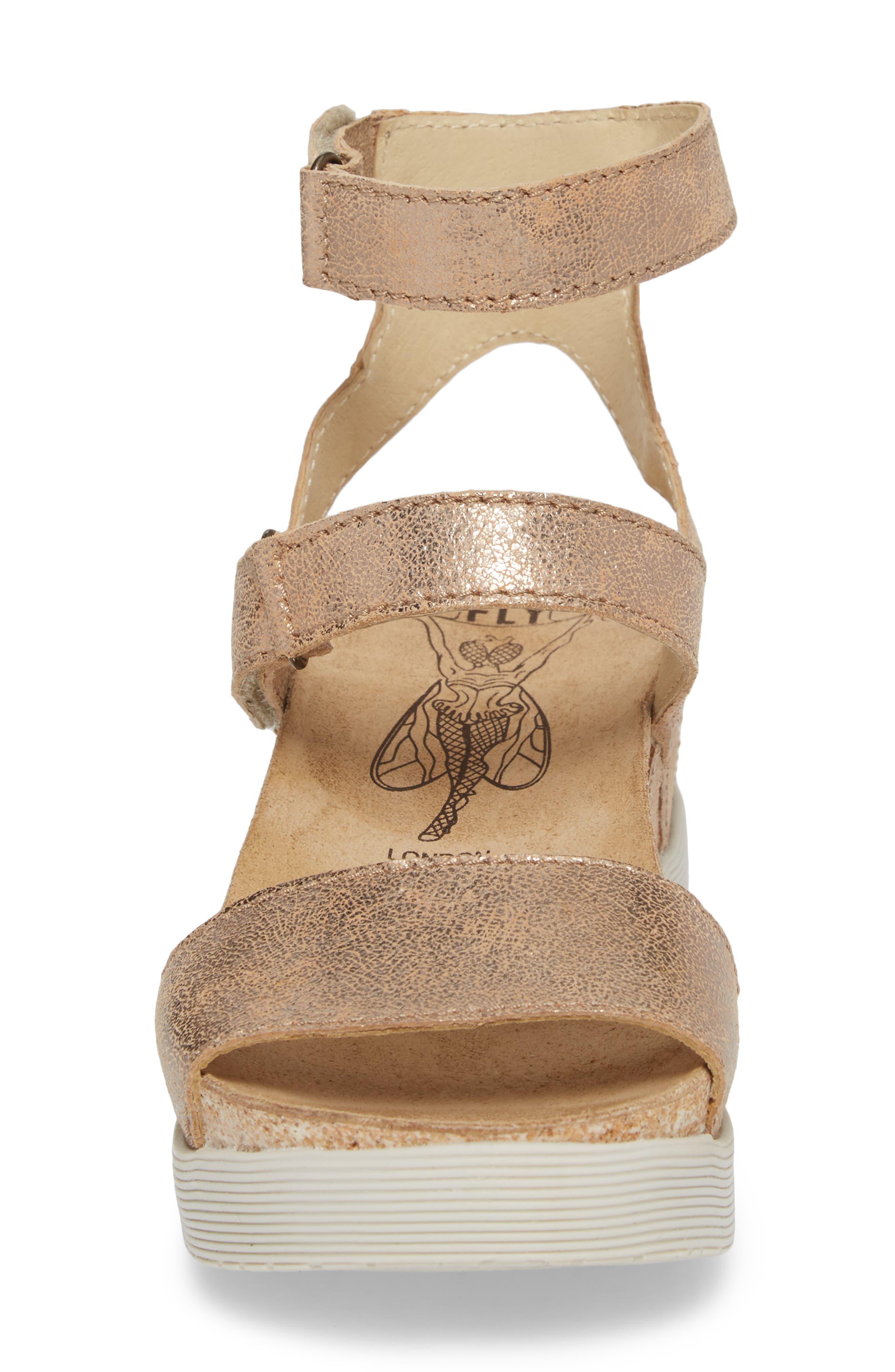 Wink Platform Sandal,                             Alternate thumbnail 4, color,                             LUNA COOL LEATHER