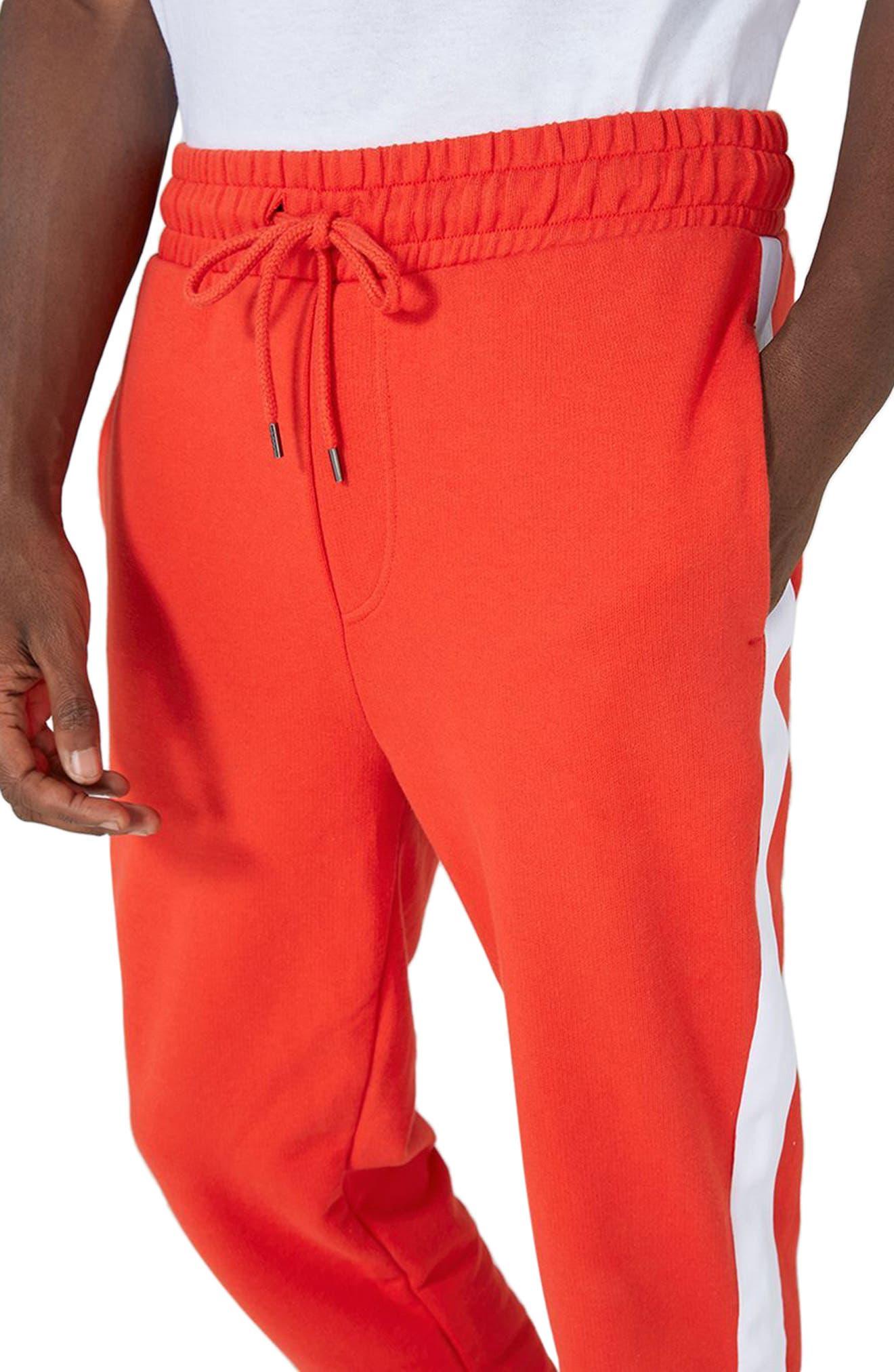 Side Tape Skinny Fit Jogger Pants,                             Alternate thumbnail 3, color,                             600